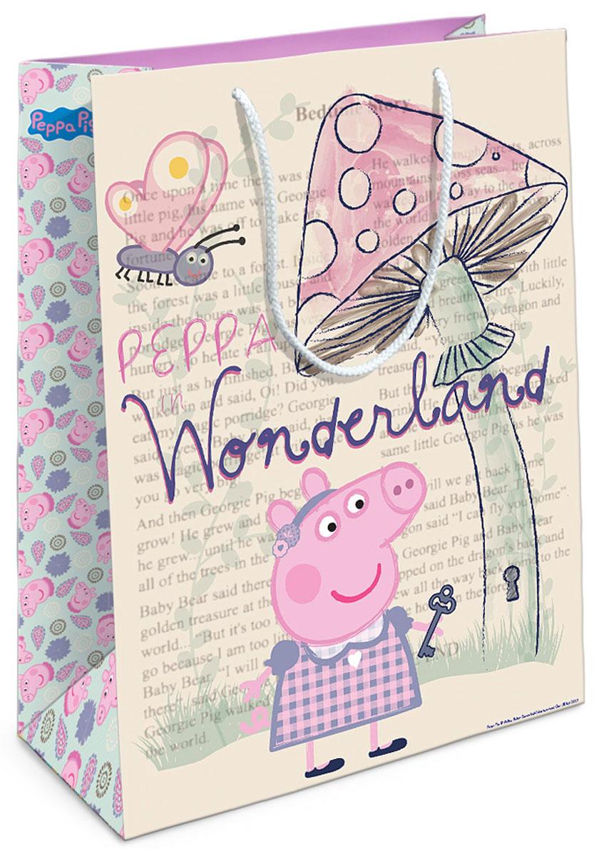 Peppa Pig Пакет подарочный Страна чудес Пеппы 35 х 25 х 9 см