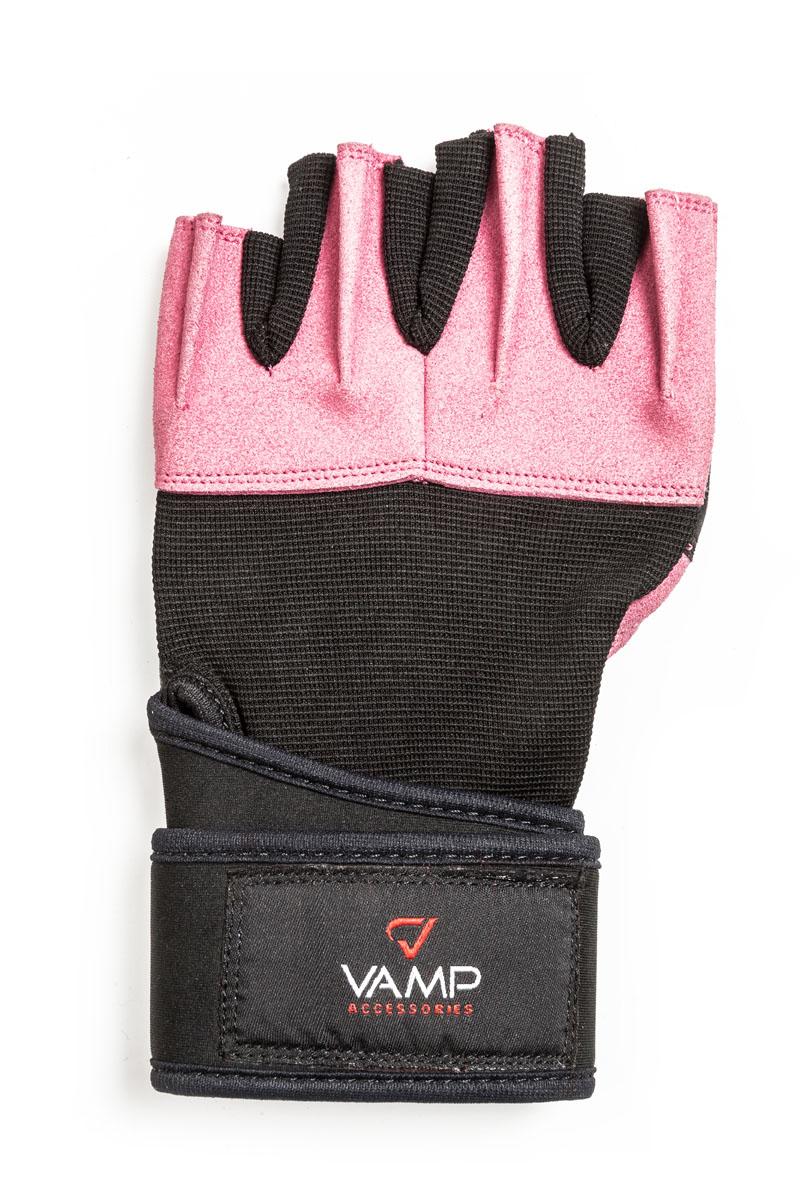 Перчатки для фитнеса Vamp женские, цвет: розовый. 540. Размер LV-959Стильные и практичные женские перчатки для занятий силовыми видами спорта, обеспечивающие надежную защиту для рук в ходе силовых тренировок и работы с железом. - Рукам не жарко, они меньше потеют в перчатках благодаря применению дышащего материала. - Легко и просто снимаются с руки после тяжелой тренировки благодаря специальным вкладкам на пальцах. - Кистевой бинт с застежкой на липучке защищает от травм запястья.