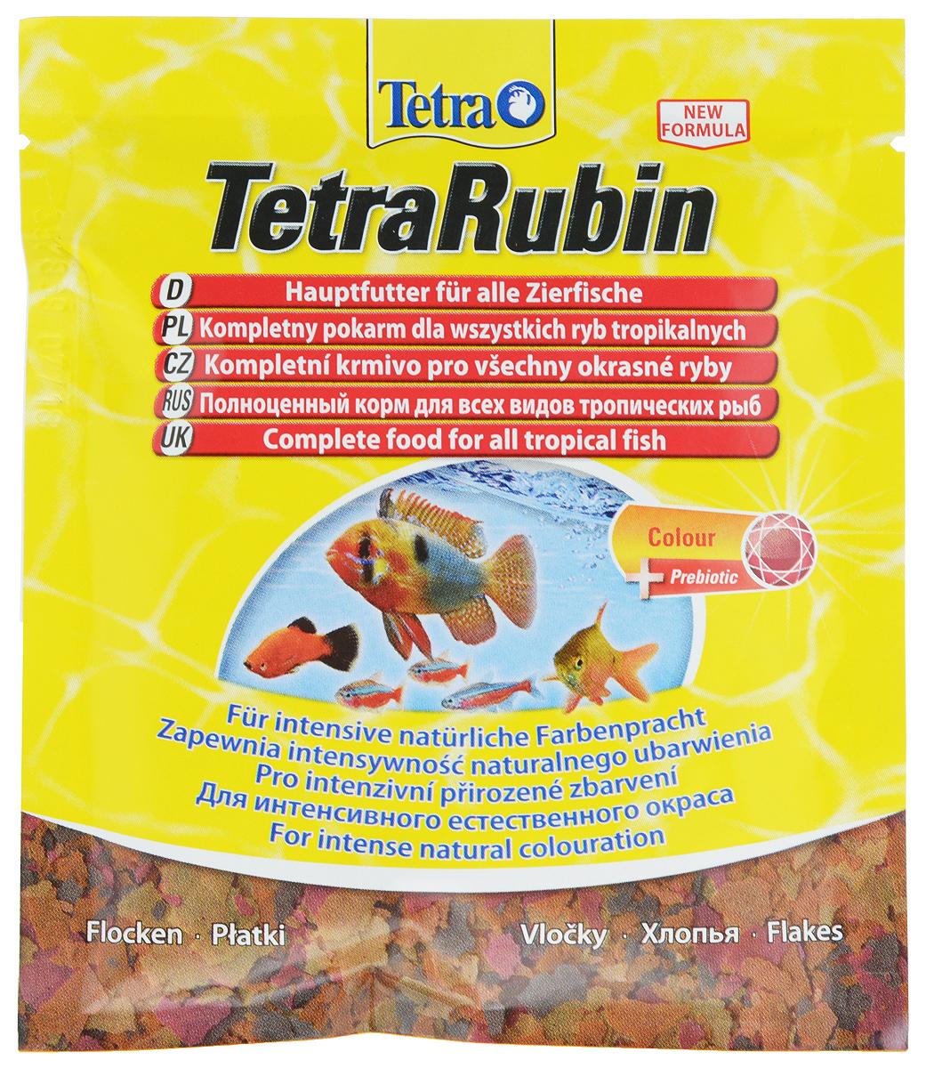 Корм Tetra TetraRubin для улучшения окраса всех видов тропических рыб, 12 г766396Корм Tetra TetraRubin - биологически сбалансированный корм в виде хлопьев с натуральными добавками для усиления естественной окраски рыб. Высокое содержание усилителей естественного цвета и специальных ингредиентов обеспечивает красивый окрас для всех красных, оранжевых и желтых тропических рыб. Эффект усиления цвета заметен уже через две недели кормления. Корм содержит полноценный сбалансированный комплекс витаминов, питательных веществ и микроэлементов. Запатентованная БиоАктив-формула поддерживает работоспособность иммунной системы, обеспечивая высокую продолжительность жизни. Стабилизированный витамин С обеспечивает повышенную устойчивость организма рыбы к болезням, ускоряет рост и устраняет симптомы болезней, связанных с недоеданием. Кормить несколько раз в день небольшими порциями. Состав: рыба и побочные рыбные продукты, зерновые культуры, дрожжи, экстракты растительного белка, моллюски и раки, масла и жиры, сахар (олигофруктоза 0,9%),...
