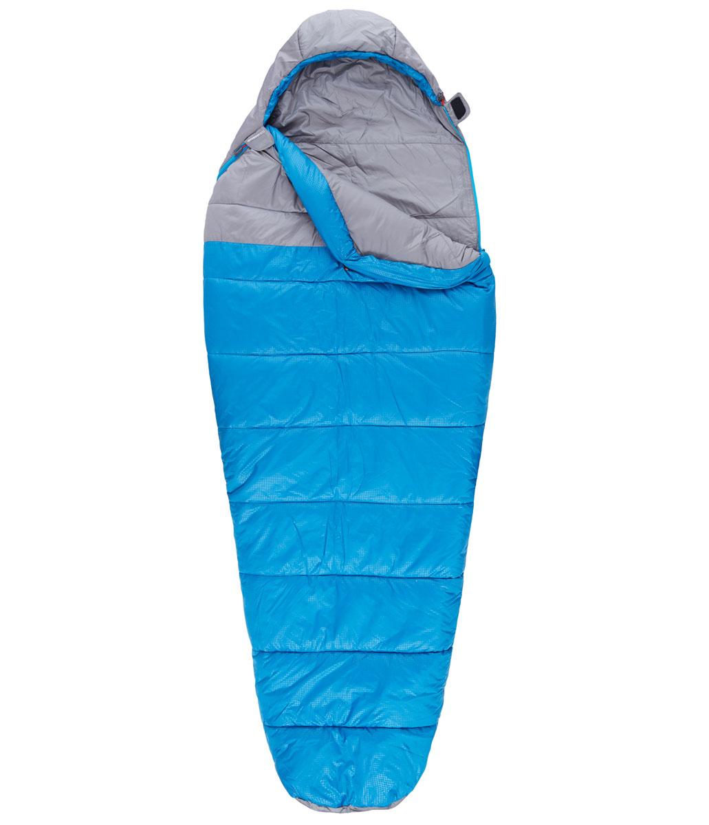Спальный мешок The North Face Aleutian 20/-7, цвет: синий. T0A3A0M8RLH LNGT0A3A0M8RLH LNGCпальный мешок для путешествий, который можно целиком расстегнуть и расстелить в палатке. Вместительный, универсальный, теплый и комфортный.