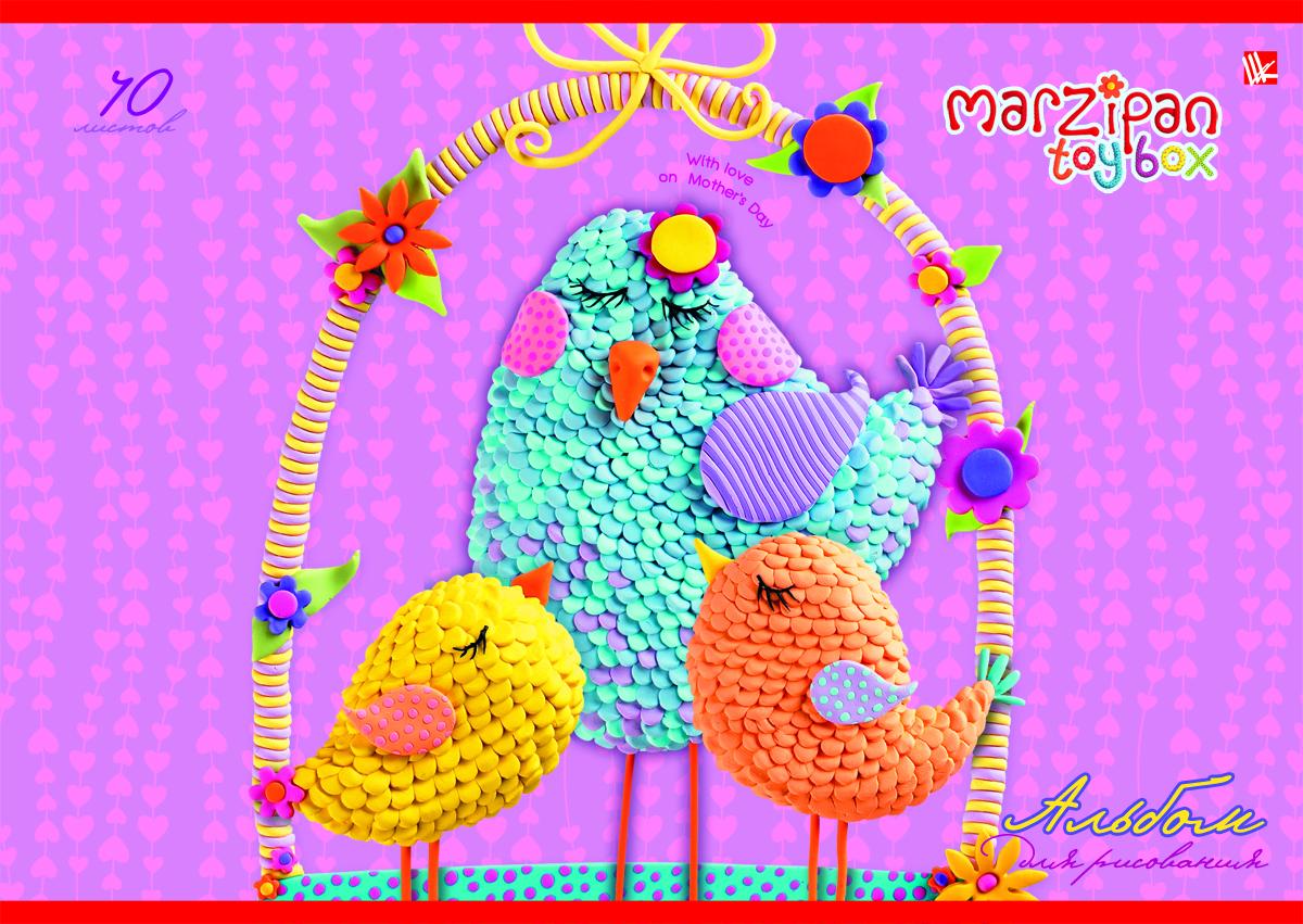 Listoff Альбом для рисования Очаровательные пташки 40 листовА2Л401358Альбом для рисования Listoff Очаровательные пташки непременно порадует вашего малыша и вдохновит его на творчество. Яркая, красочная, креативная обложка выполнена из картона с отделкой Твин-лак привлечет внимание юного художника. Обложка альбома оформлена оригинальным красочным изображением. Внутренний блок состоит из 40 листов белой высококачественной бумаги на скрепке, что гарантирует чистоту рисунков, высокое качество и комфорт при рисовании. Рисование поможет раскрыть таланты малыша, а также способствует развитию мелкой моторики и художественного вкуса. А с альбомом для рисования Очаровательные пташки рисовать легко и приятно! Рекомендуемый возраст: от 6 лет.