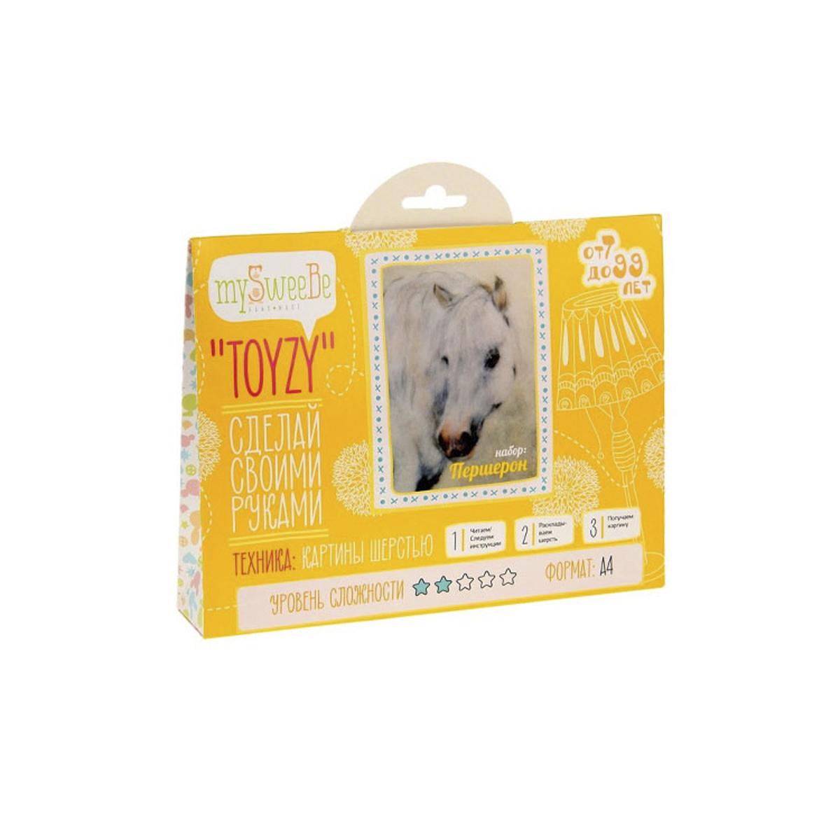 Картина шерстью Toyzy Першерон, 29,7 см х 21 см. TZ-P002582268Набор для изготовления картин из шерсти Toyzy включает в себя: детальную инструкцию; все необходимые материалы и инструменты (в т.ч. шерсть, пинцет, подложку, дополнительные элементы). Шерсть, содержащаяся в наборе, является 100% натуральной и качественной.