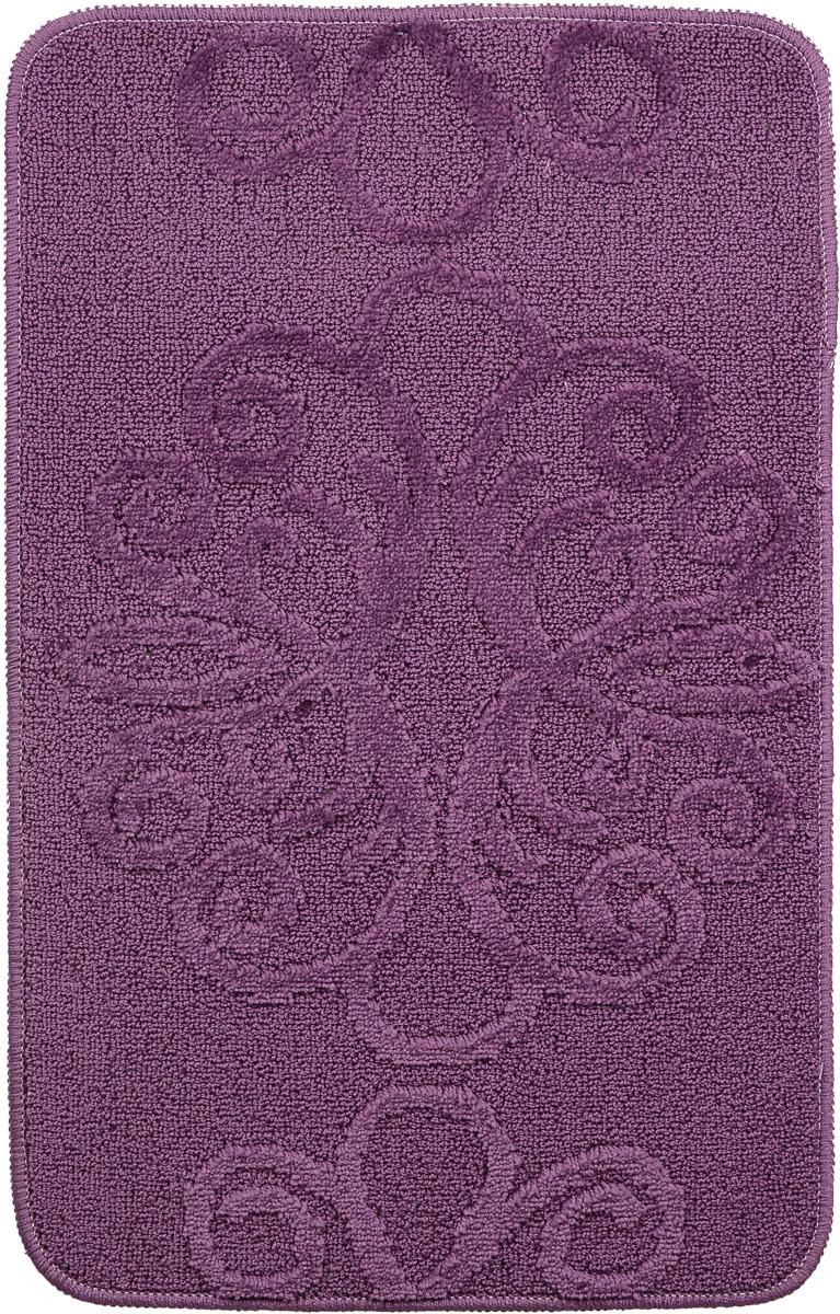 Коврик для ванной комнаты Fresh Code Орнамент, цвет: фиолетовый, 80 х 50 см. 610961092_2_фиолетовыйКоврик для ванной Fresh Code изготовлен из 100% акрила с латексной основой. Коврик, украшенный элегантным однотонным жаккардовым рисунком, создаст уют в ванной комнате. Высокий акриловый ворс коврика хорошо впитывает воду, создает комфортное покрытие. Рекомендации по уходу: - стирать в ручном режиме, - не использовать отбеливатели, - не гладить, - не подходит для сухой чистки (химчистки).
