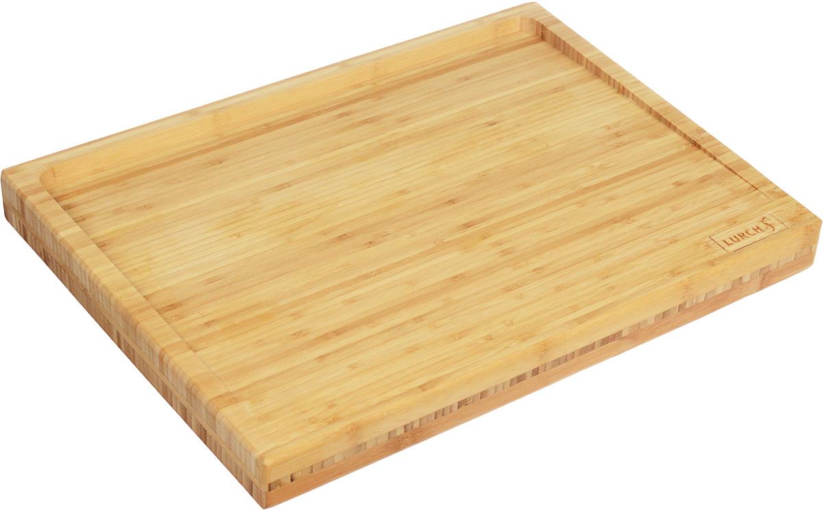 Доска разделочная Lurch, 50 х 40,5 х 4,8 см10909Разделочная доска Lurch изготовлена из бамбука, который является не только экологически чистым материалом, но и очень удобным для нарезки продуктов. Внушительный вес доски позволит прочно расположится на любой ровной поверхности и не скользить при нарезке. Разделочная доска Lurch - это подлинное немецкое качество во всем. Порадуйте себя и своих близких качественным и функциональным подарком.