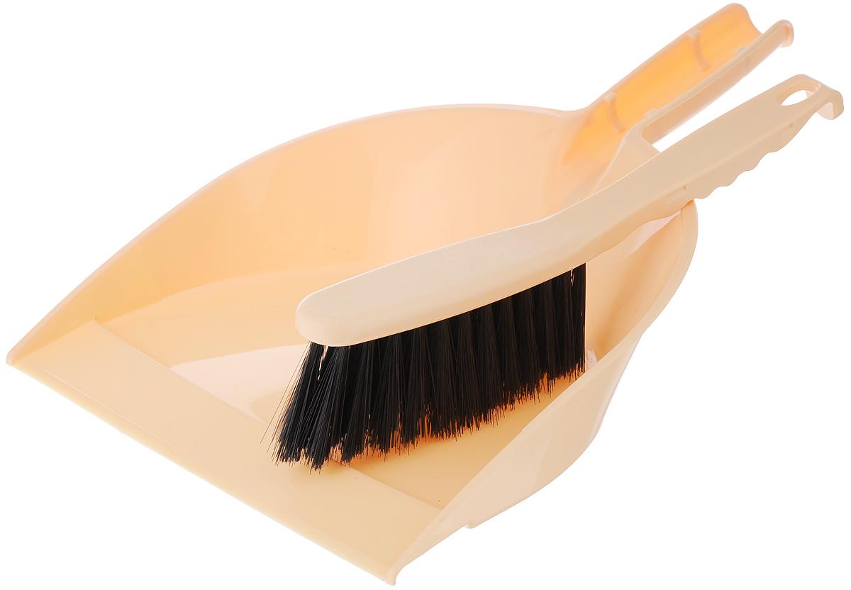 Набор для уборки Альтернатива, цвет: бежевый, 2 предметаM893_бежевыйНабор для уборки Альтернатива состоит из щетки-сметки и совка. Он станет незаменимым помощником в деле удаления пыли и мусора с различных поверхностей. Эластичный ворс на щетке, изготовленный из полимера, не оставит от грязи и следа. В комплекте - вместительный совок углубленной формы, выполненный из прочного пластика. Удобная форма совка с бордюром, который удерживает собранный мусор, позволит эффективно и быстро совершить уборку в любом помещении. Ручка совка позволяет прикреплять его к рукоятке щетки. На рукоятках изделий имеются специальные отверстия для подвешивания. Длина щетки: 27 см. Длина ворса щетки: 5 см. Размер рабочей поверхности щетки: 14 х 3,5 см. Размер рабочей поверхности совка: 23,5 х 22,5 см. Размер совка (с учетом ручки): 33,5 х 23,5 х 6 см.