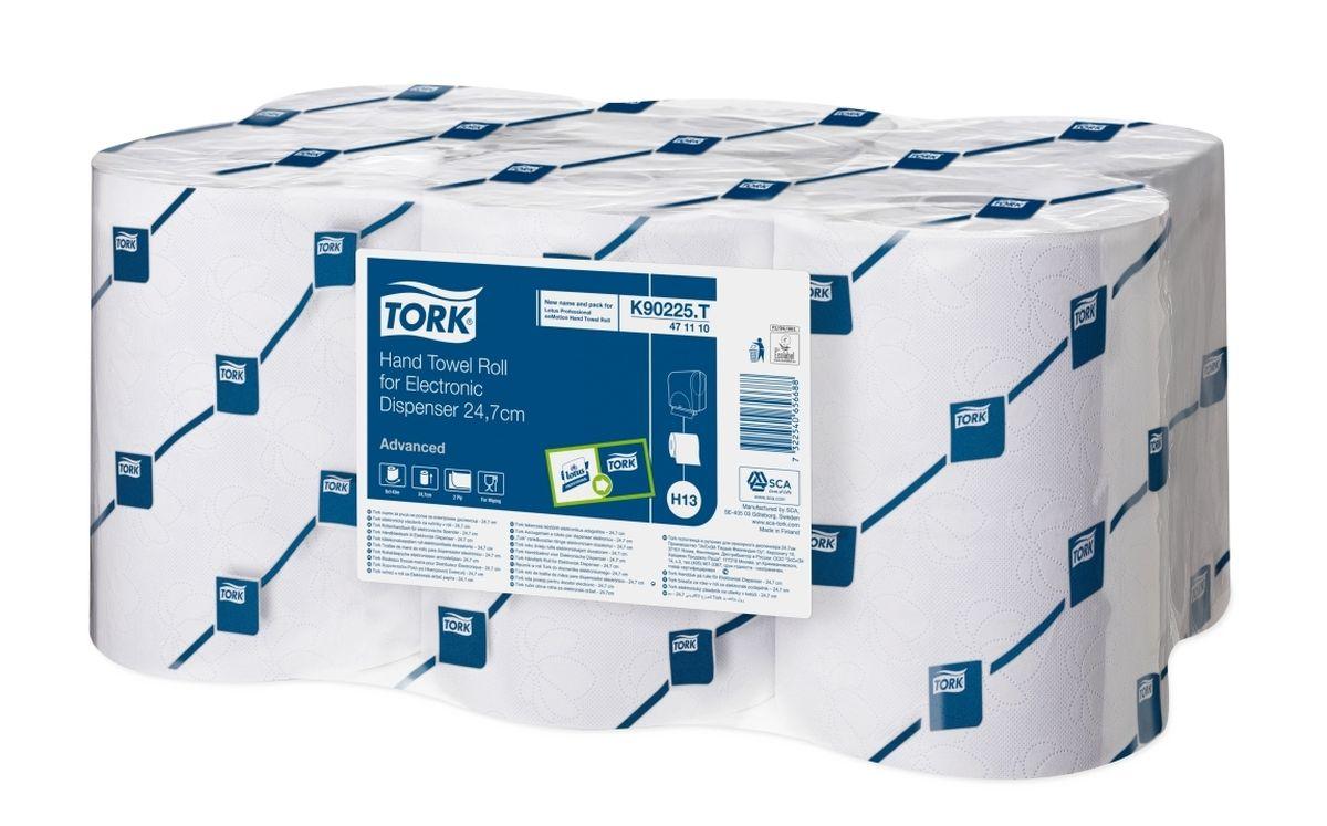 K90225 Полотенца в рулонах для сенсорного диспенсера шириной 24,7см, 2сл. 143м, коробка 6 шт471110Хорошо впитывающие влагу двухслойные бумажные полотенца для сенсорного диспенсера. Идеально подходит для мест с высокой проходимостью, таких как туалетные комнаты в аэропортах и торговых центрах. Цвет: белый с голубым тиснением в виде цветка лотоса. Используются с белым или синим сенсорным диспенсером. Система защищена от подделок. Полотенца не подходят к диспенсерам других производителей. Система Н13. Категория качества – Advanced. Размеры: 2 слоя, длина рулона 143 м (715 листов 247х200 мм), 6 рулонов в упаковке.