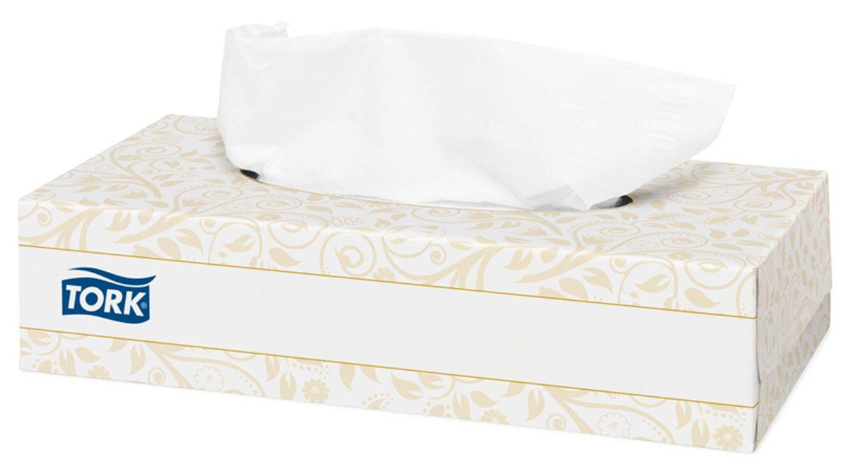 Tork салфетки для лица ультрамягкие 2сл 100л, коробка 20 шт