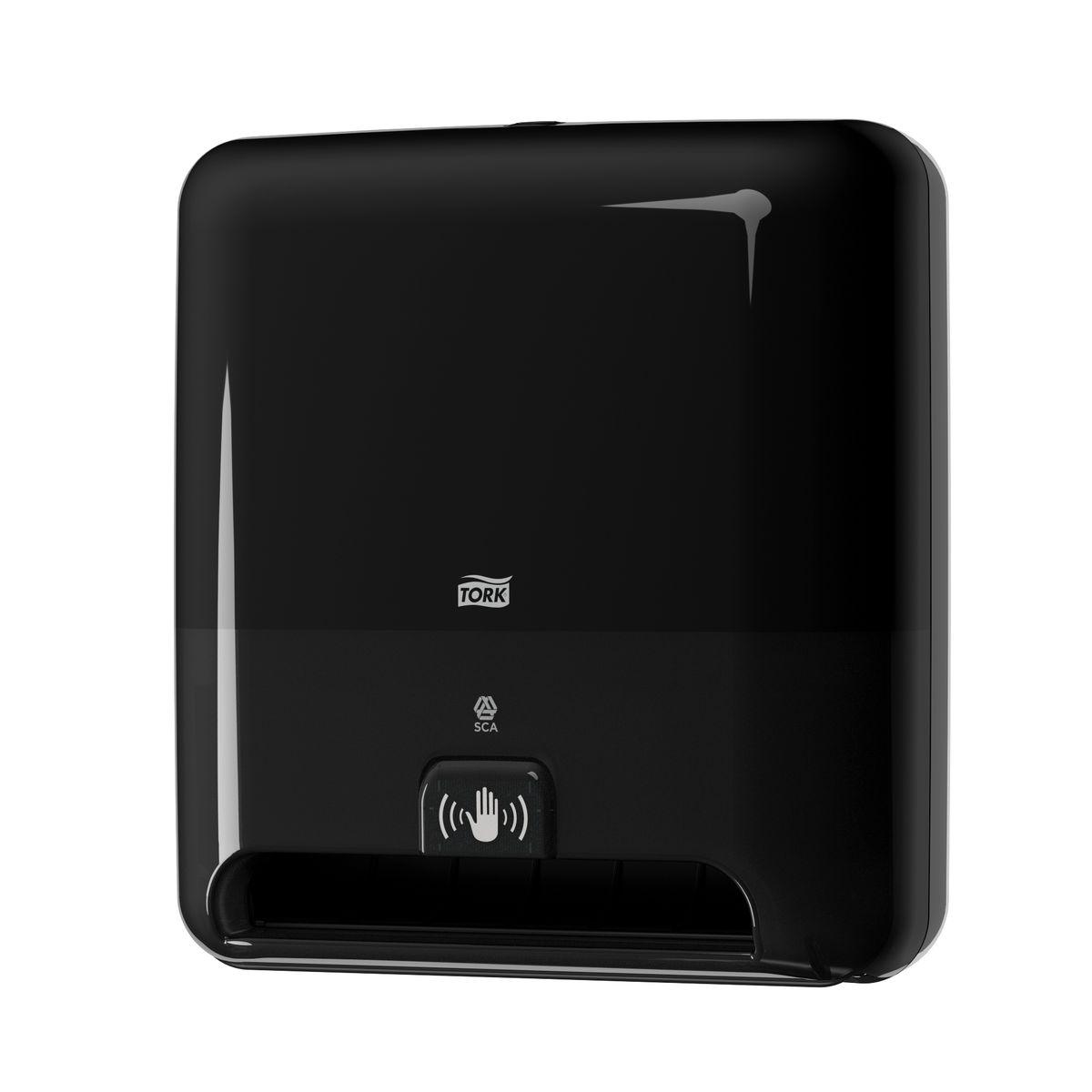 Диспенсер для бумажных полотенец Tork, цвет: черный. 551108551108Система Н1 - Полотенца в рулонах. Сенсорный диспенсер для полотенец в рулонах Tork Matic - это гигиеничное и экономичное решение. • Бесконтактный отбор полотенец обеспечивает высокий уровень гигиены • Большая вместимость сокращает частоту перезаправок • Интуитивно понятная конструкция облегчает и ускоряет перезаправку • Возможность регулировать длину полотенца обеспечивает контроль расхода полотенец • Световые индикаторы замены элементов питания и расхода рулона • Бесшумная работа сенсора