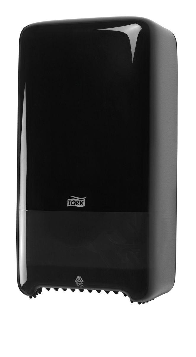 Диспенсер для туалетной бумаги Tork, цвет: черный. 557508557508Система Т6 - бумага в миди рулонах. Надежный функциональный диспенсер на 2 рулона бумаги по 100 м, требующий минимального обслуживания благодаря инновационной системе с автоматической заменой рулона. Диспенсер можно перезаправлять и после использования одного рулона. Открывается с помощью ключа или нажатием на кнопку. Внутри предусмотрено место для визитной карточки и уровнемер для быстрого монтажа. Подходит для использования в туалетных комнатах средней проходимости.
