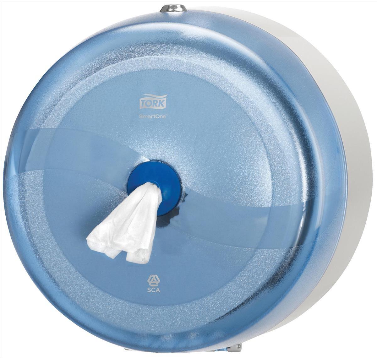 Диспенсер для туалетной бумаги Tork, цвет: синий. 472024472024Система Т8 - бумага в рулонах с центральной вытяжкой Яркий синий цвет, высокая прочность и долговечность - главные качество Tork диспенсеров серии Wave. Обладает противоударной и противопожарной защитой, закрывается на металлический замок. Выдает туалетную бумагу Торк короткими листами - это отличное решение для исключения перерасхода бумаги. Расход бумаги уменьшается на 40 процентов. Съемная втулка легко вынимается, оставляя свободным конец рулона (технология SmartCore TM). Подходит для мест с высокой проходимостью: школы, торговые центры, больницы, вокзалы, аэропорты. Гигиеничность использования - бесконтактный отбор бумаги Прочная конструкция из поликарбоната: антивандальные свойства