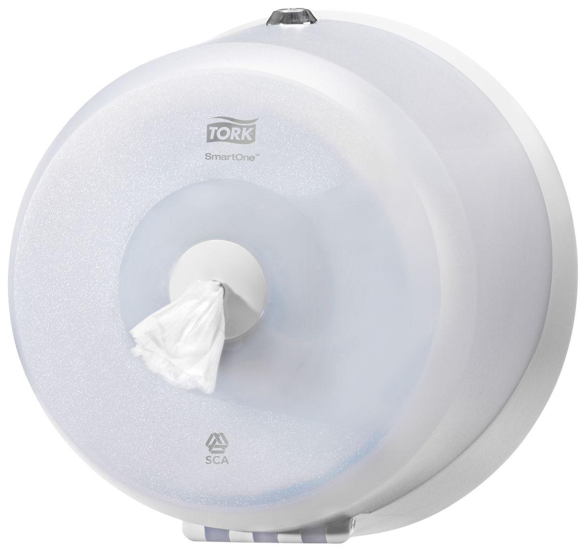 Диспенсер для туалетной бумаги Tork, цвет: белый. 472026472026Система Т9 - бумага в мини рулонах с центральной вытяжкой Яркий синий цвет, высокая прочность и долговечность - главные качество Tork диспенсеров серии Wave. Диспенсер большой емкости - минимум обслуживания. Полистовая подача: сокращение расхода бумаги до 40%. Гигиеничность использования - бесконтактный отбор бумаги. Прочная конструкция из поликарбоната: антивандальные свойства. Полупрозрачная крышка: удобный контроль необходимости перезаполнения.
