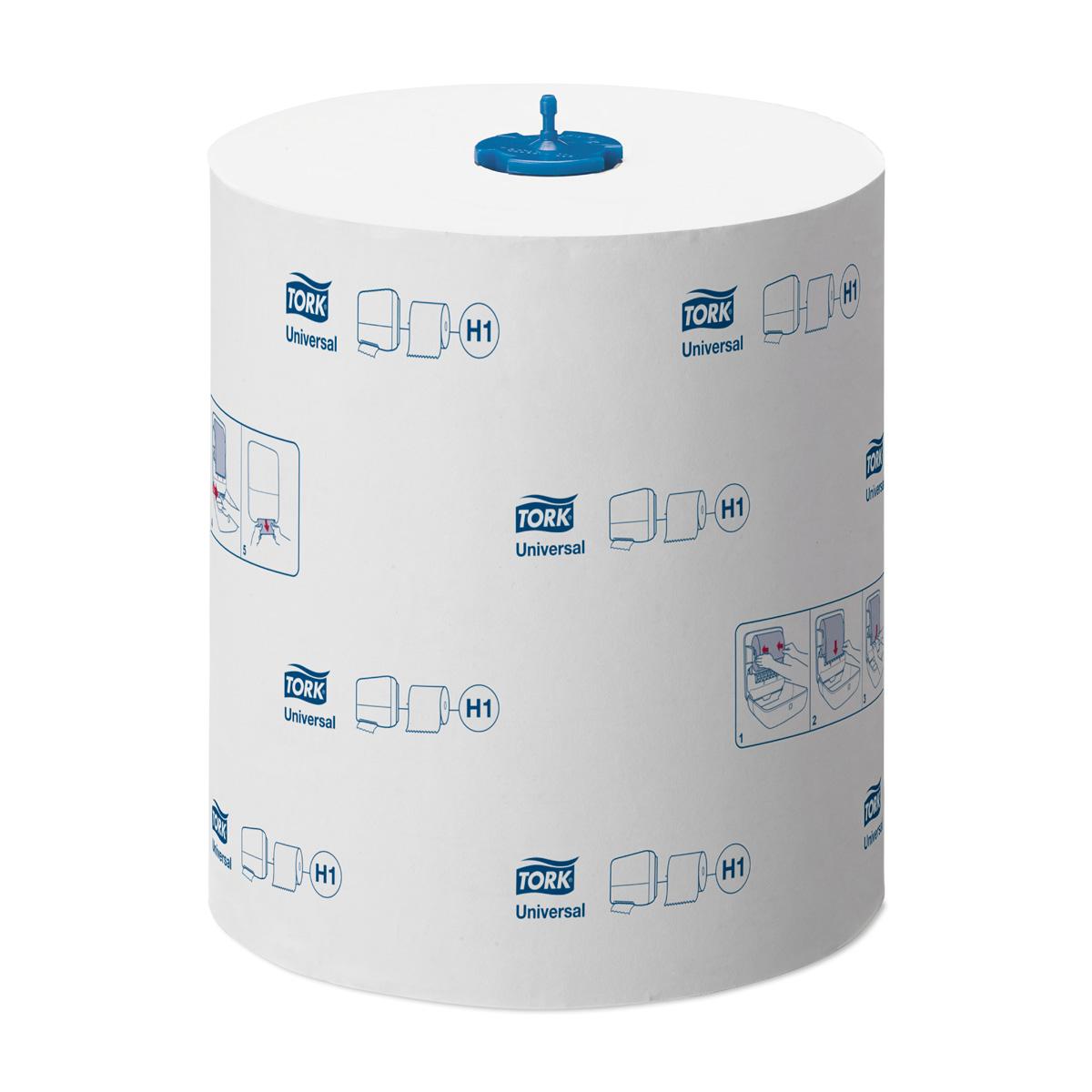 Tork Matic полотенца в рулонах ультра-длина 1-сл 280м, коробка 6 шт290059Система H1 - Matic system. Категория качества Universal Однослойные бумажные полотенца с увеличенной длиной рулона. Изготавливаются по технологии TAD – «Сквозная сушка воздухом», благодаря чему достигается очень высокая степень впитываемости и мягкости. Полотенца впитывают в 5 раз больше собственного веса. В состав материала входит натуральная целлюлоза и обычная бумага. Средний расход - примерно 2,75 листа на человека за одно посещение. Благодаря увеличенной длине рулона не требует частой перезаправки. Разрешен контакт с пищевыми продуктами. Цвет: белый. Размеры: 1 слой, длина рулона 280м (1120 листов), ширина 21 см, в упаковке 6 рулонов. Целлюлоза