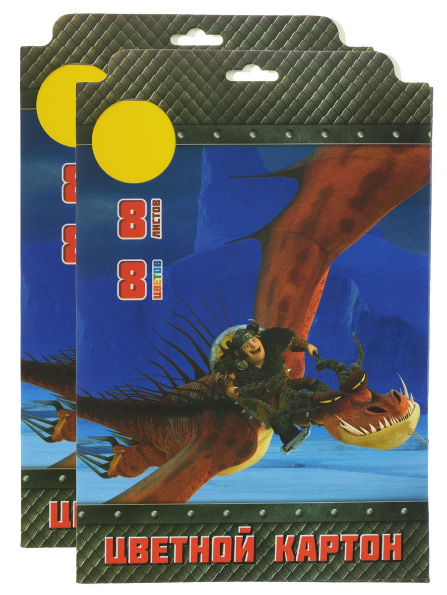 Action! Набор цветного картона Dragons 8 листов 2 штDR-CC-8/8Набор цветного картона Action! Dragons позволит создавать всевозможные аппликации и поделки. Набор упакован в картонную папку с изображением персонажей мультфильма Dragons. Создание поделок из цветного картона позволяет ребенку развивать творческие способности, кроме того, это увлекательный досуг. Одна папка содержит 8 листов цветного картона. В набор входят две папки.