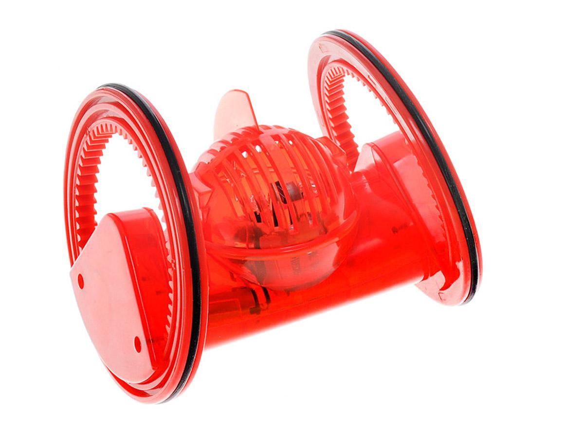 DeskPets Микро-робот на инфракрасном управлении Трекбот цвет красный1821Микро-робот на инфракрасном управлении DeskPets Трекбот - уникальный трюковой робот на колесах, способный выполнять головокружительные трюки. На своих колесах робот задорно движется по поверхности. Он запоминает последнюю команду, переданную на него с инфракрасного пульта управления, и будет ее выполнять, пока не получит следующую команду. Лучше всего трюковому роботу удаются повороты. Повороты - это его конек. Благодаря особому расположению и наклону колес Трекбот может практически сразу поменять направление движения. Подсветка корпуса трекового робота позволит вам не потерять его в темноте. Только успейте подать команду СТОП, а то убежит! С роботом Трекбот можно устраивать соревнования на прохождение гоночной трассы или даже игрушечные бои. Робот Трекбот работает на аккумуляторной батарее, которая заряжается от порта USB. Пульт ИК-управления роботом работает от 3 батареек типа AG13 (входят в набор).