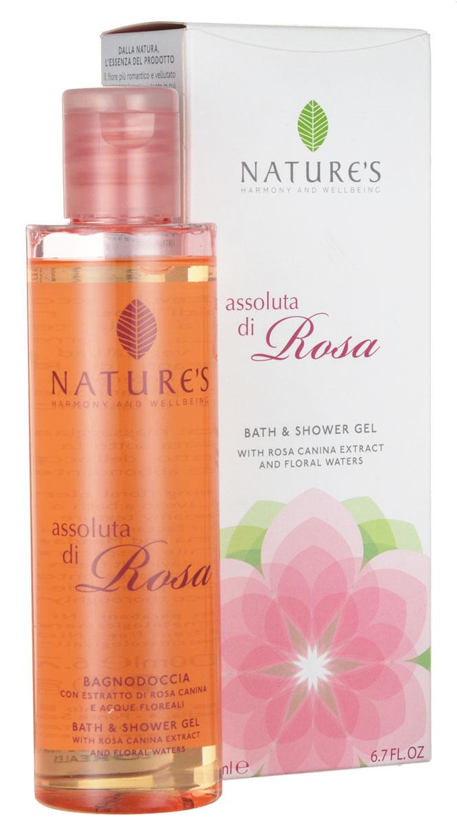 Гель для душа Natures Assoluta di Rosa, 200 мл