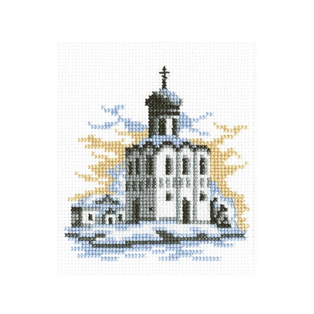 Набор для вышивания РС-Студия Зимняя церковь, 12 см х 13 см. 838485615