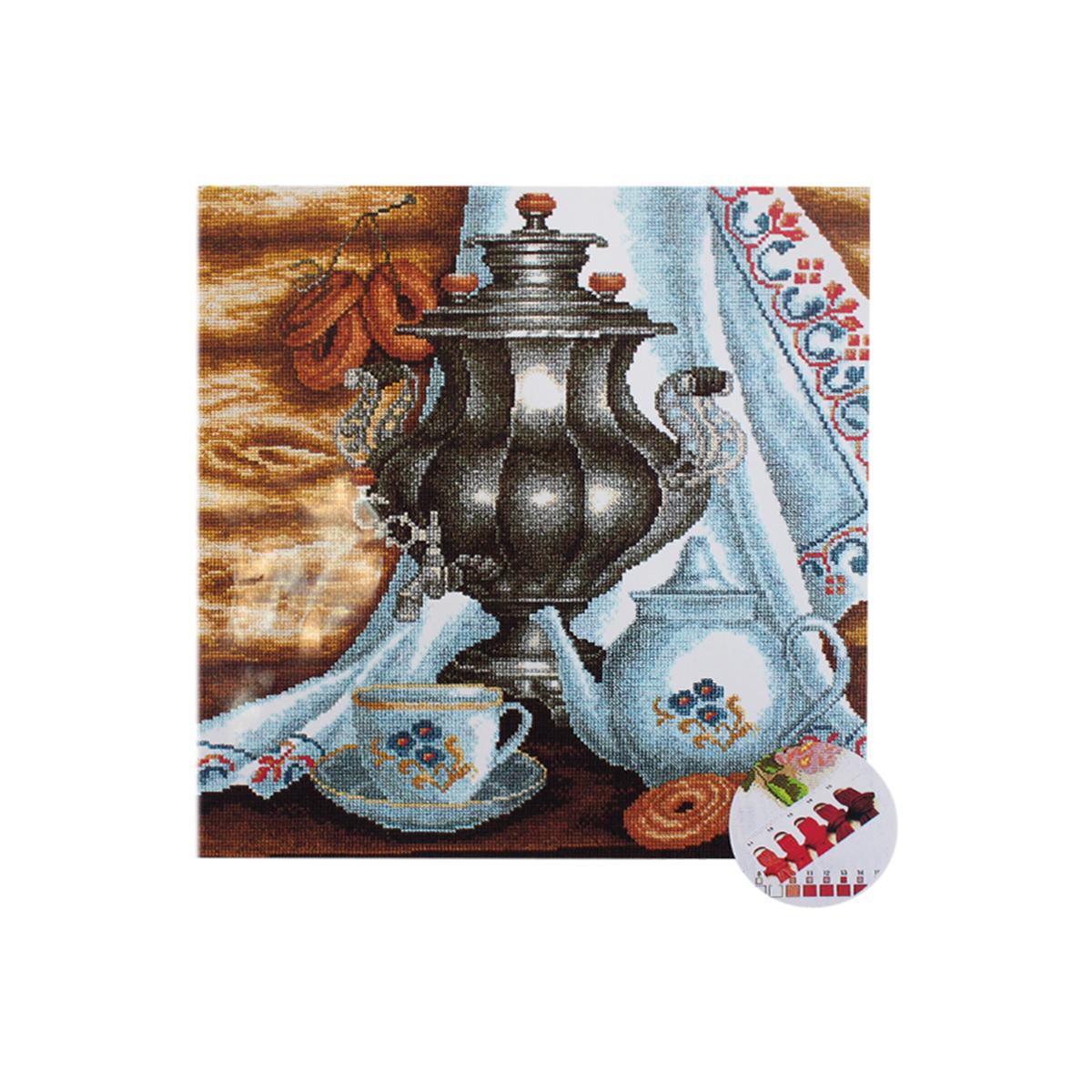 Набор для вышивания РС-Студия Чай с баранками, 50 см х 50 см. 860582250