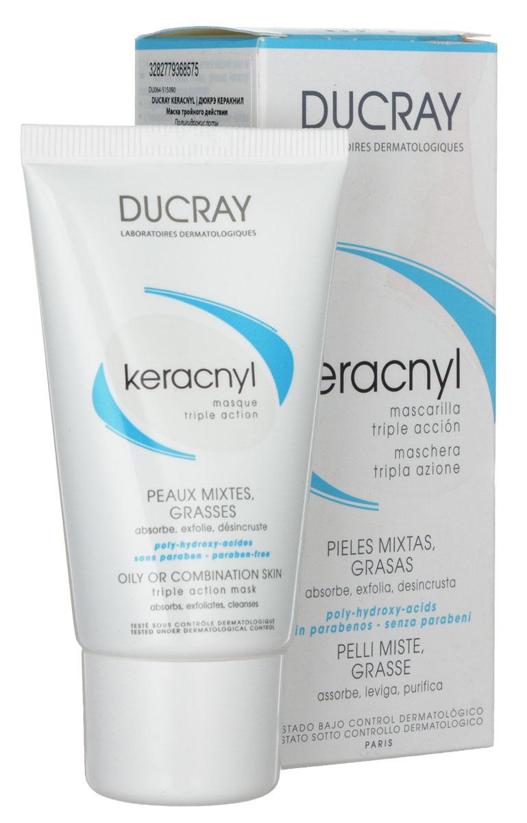 Ducray Маска Keracnyl тройного действия 40 млC18630Абсорбирует излишки себума. Глубоко очищает поры. Улучшает текстуру кожи, выравнивает эпидермис. Глубоко очищает кожу, выравнивает эпидермис