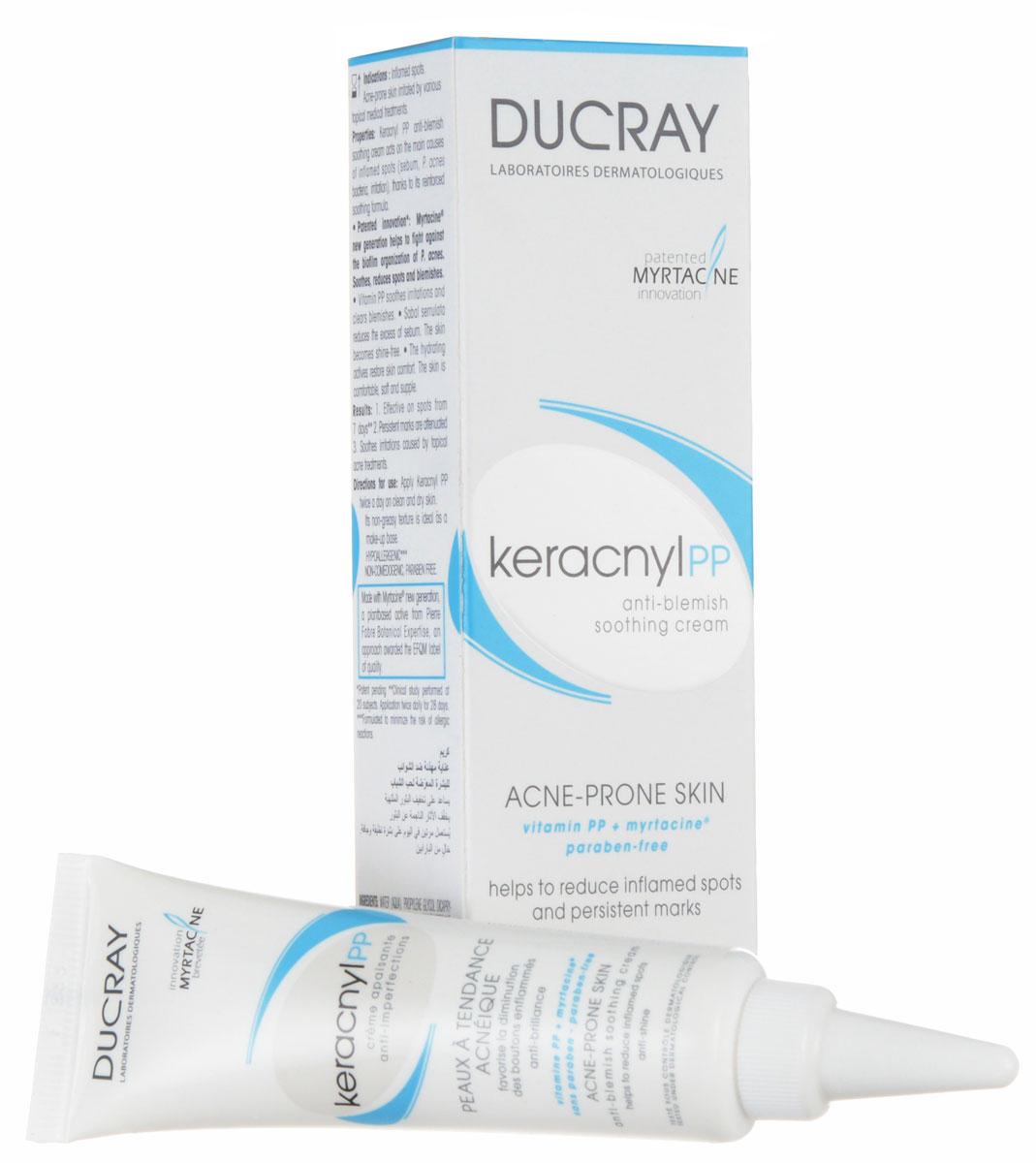 Ducray PP Успокаивающий кремKeracnyl против дефектов кожи, склонной к появлению акне 30 млC42238Системный подход к лечению акне включает правильную гигиену и дополнительный уход, в результате чего снижается количество высыпаний, кожа оздоравливается. Успокаивающий крем против дефектов кожи Керакнил РР разработан для кожи, склонной к угревой сыпи у подростков и взрослых. Улучшает переносимость медикаментозного лечения. Витамин PP оказывает противоспалительное действие и снимают раздражение. Инновационный растительный компонент Миртацин способствует исчезновению угревых элементов при воспалительном акне. Эффективность Снижает количество угревых элементов и/или акне через 7 дней применения* Улучшает переносимость наружных лечебных препаратов против акне успокаивающий эффект на коже 96%** Сокращает видимые покраснения и раздражения Увлажнение до 6 часов*** * Клиническое и биоклиматологическое исследование под дерматологическим контролем с участием 20 человек с кожей, склонной к акне, два нанесения в день на протяжении 28 дней. ** Исследование переносимости в сочетании с лечебными...