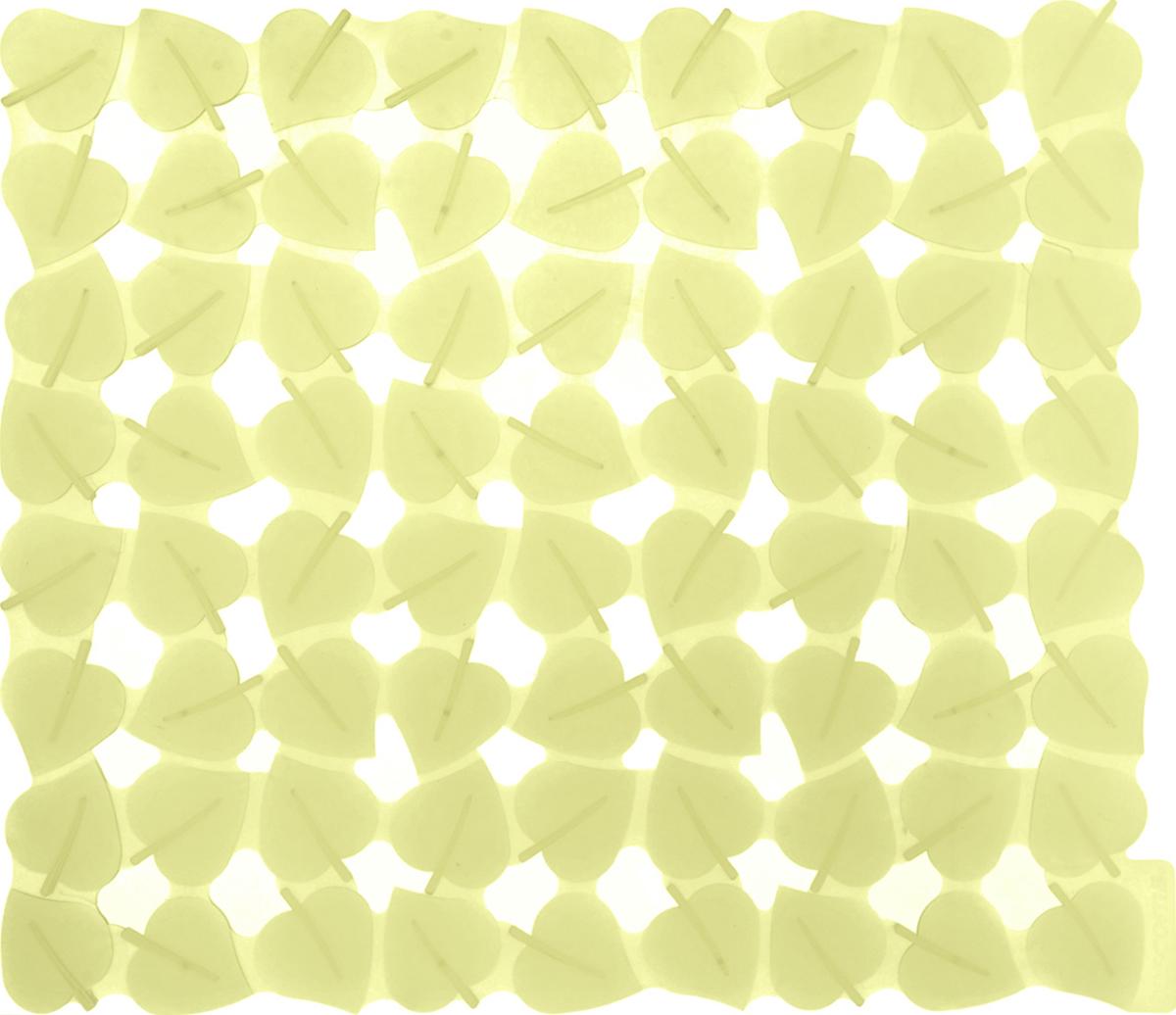 Коврик для раковины Tescoma Листочки, цвет: желтый, 32 x 28 см900637_желтыйСтильный и удобный коврик для раковины Tescoma Листочки изготовлен из эластичного пластика. Он одновременно выполняет несколько функций: украшает, защищает мойку от царапин и сколов, смягчает удары при падении посуды в мойку. Коврик также можно использовать для сушки посуды, фруктов и овощей. Он легко очищается от грязи и жира. Можно мыть в посудомоечной машине.
