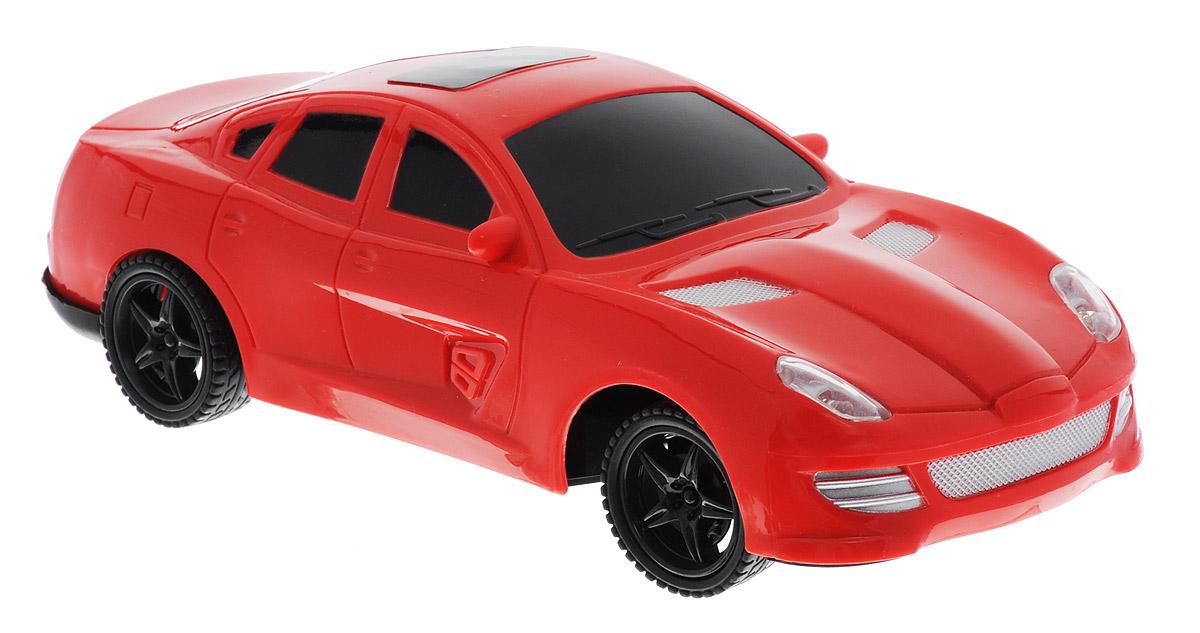 Plastic Toy Машина на радиоуправлении Game Car цвет красныйB1382997_красныйМашина на радиоуправлении Plastic Toy Game Car обязательно привлечет внимание вашего ребенка. Машинка с ярким динамичным дизайном обладает легким, но прочным каркасом из высококачественного пластика. Управление автомобилем осуществляется с помощью пульта управления. Пульт управления работает на частоте 27 MHz. Машинка может двигаться вперед, дает задний ход, поворачивает влево и вправо, останавливается. Имеются световые эффекты. Вашему ребенку будет интересно играть с моделью, придумывая различные истории и устраивая соревнования. Порадуйте его таким замечательным подарком! Для работы игрушки необходимы 3 батарейки типа АА (не входят в комплект). Для работы пульта управления необходимы 2 батарейки типа АА (не входят в комплект).