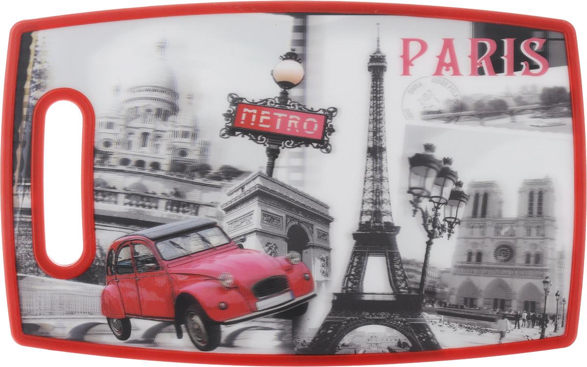 Доска разделелочная 3D Mayer & Boch Paris, 37 х 27 см24759Разделочная доска 3D Mayer & Boch Paris, выполненная из высококачественного полипропилена, станет незаменимым аксессуаром на вашей кухне. Одна сторона доски декорирована 3D изображением Парижа, другая сторона белого цвета. Антибактериальное покрытие защищает от плесени, грибков и неприятных запахов. Изделие отлично подходит для приготовления и измельчения пищи, а также для сервировки стола. Такая доска прекрасно впишется в интерьер любой кухни и прослужит вам долгие годы.