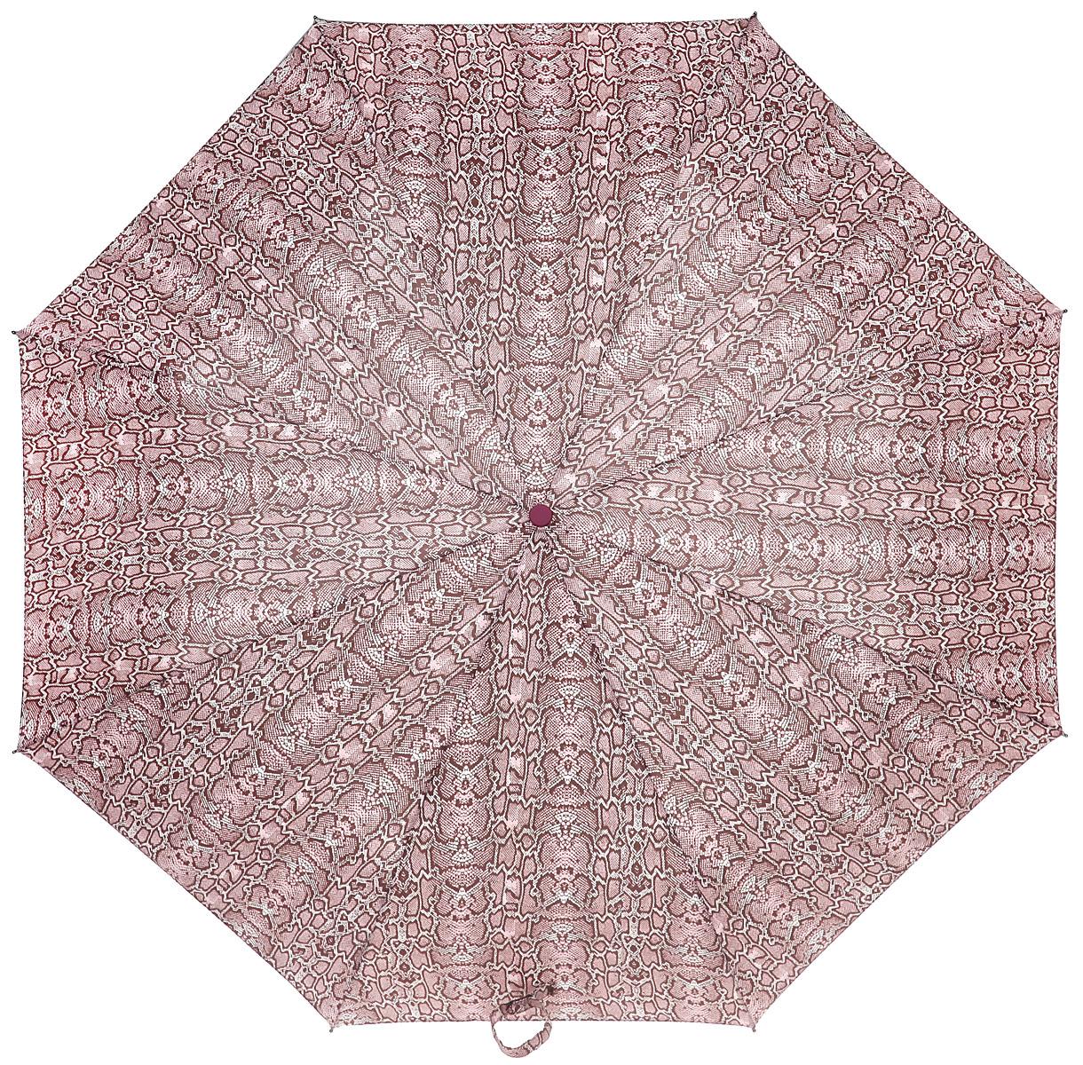 Зонт женский Labbra, автомат, 3 сложения, цвет: мультицвет. A3-05-039A3-05-039Яркий зонт Labbra оформлен оригинальным принтом. Каркас зонта изготовлен из стали и фибергласса, содержит восемь спиц, а также дополнен эргономичной рукояткой из пластика. Купол выполнен из полиэстера с водоотталкивающей пропиткой. Зонт имеет автоматический механизм сложения: купол открывается и закрывается нажатием кнопки на рукоятке, стержень складывается вручную до характерного щелчка, благодаря чему открыть и закрыть зонт можно одной рукой, что чрезвычайно удобно при входе в транспорт или помещение. Рукоятка дополнена удобной петлей. К зонту прилагается чехол. Практичный аксессуар даже в ненастную погоду позволит вам оставаться стильной и элегантной.