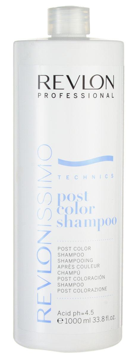 Revlon Professional Шампунь после окрашивания Post Color Shampoo 1000 мл7220137000Шампунь после окрашивания Ревлон (Post Color Shampoo Revlon) является завершающим этапом в процессе окрашивания. Он полностью избавляет волосы и кожу головы от остатков химических компонентов красителя. Восстанавливает pH волос и кожи головы.