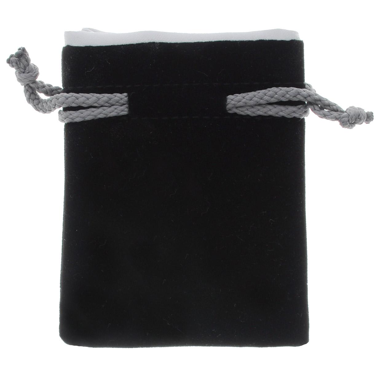 Pandoras Box Мешочек Мини для хранения кубиков и игральных карт цвет черный серый04PB005Мешочек для кубиков и игральных карт Pandoras Box Мини прекрасно подходит для хранения карт, кубиков, игральных костей, фишек и других игровых аксессуаров, или разнообразных бытовых мелочей. Мешочек, изготовленный из натурального бархата и атласа, затягивается сверху на шнурок-кулиску. Размер: S.