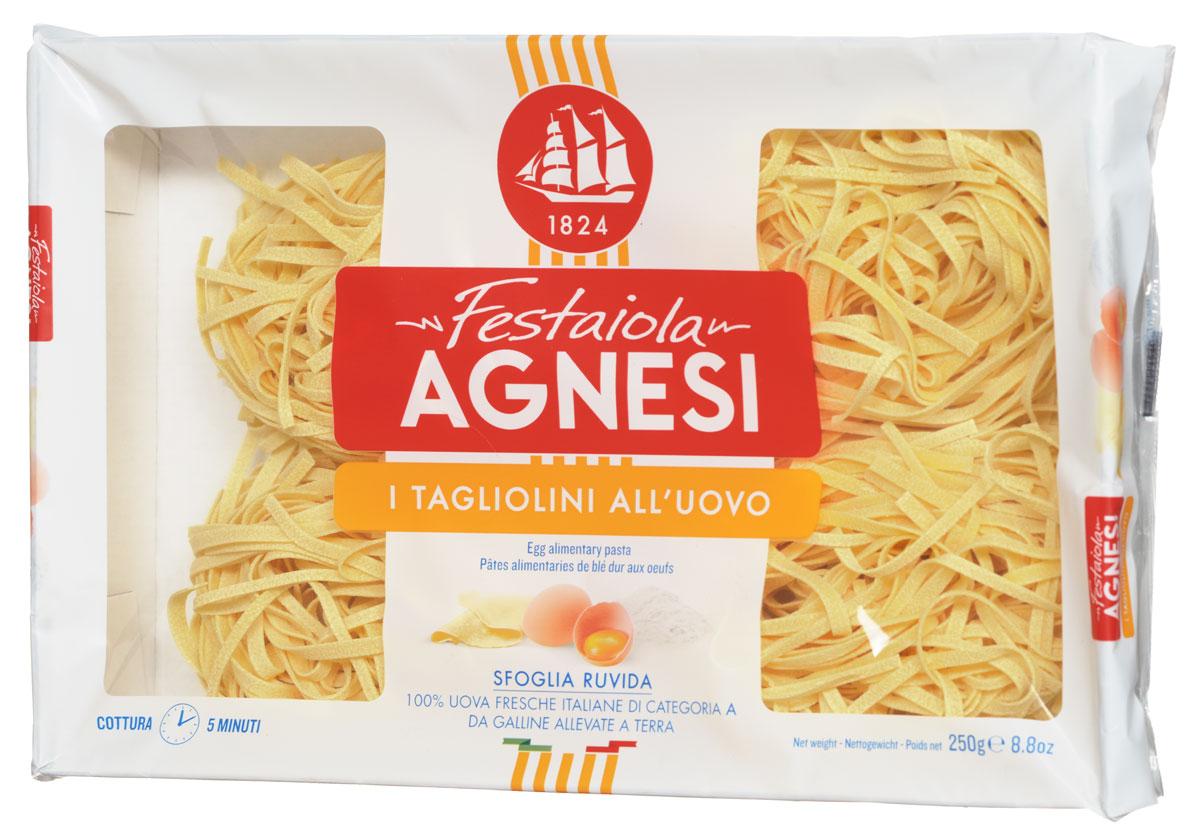 Agnesi Тальолини яичные макароны, 250 г 8001200045954