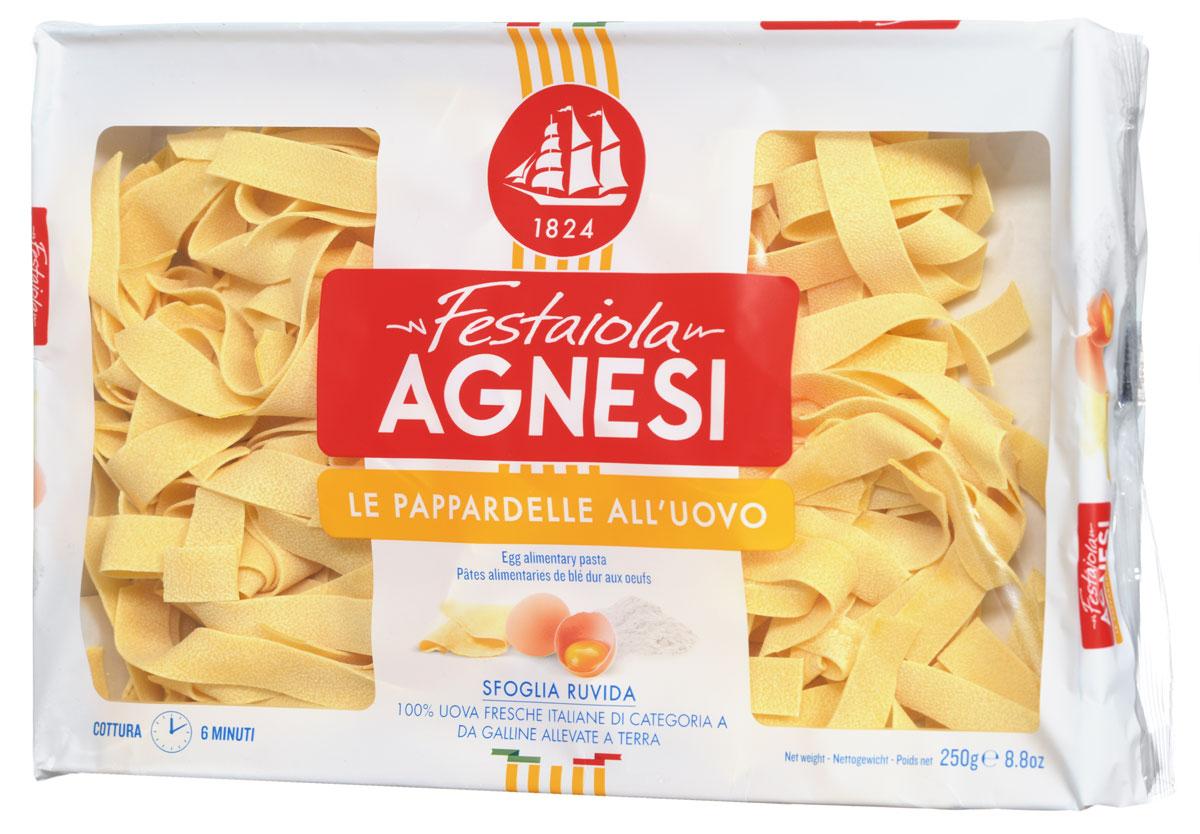 Agnesi Паппарделле яичные макароны, 250 г8009800012161Agnesi - это одна из старейших марок макарон в Италии. С 1824 года в итальянском городе Империя, расположенном на берегу Средиземного моря, семья Agnesi начала производить эти, благодаря своему качеству, широко известные макаронные изделия. Яичные макароны Agnesi демонстрируют неповторимый вкус макаронных изделий, созданных согласно всем канонам итальянской кухни. Если вы подлинный гурман, то вы по достоинству оцените их. Эти макароны не слипаются при готовке и не раскисают. Из них получится прекраснейший гарнир, также они могут стать основой для множества блюд итальянской кухни. Используя Agnesi вы сможете приготовить обед не хуже, чем шеф-повар итальянского ресторана.