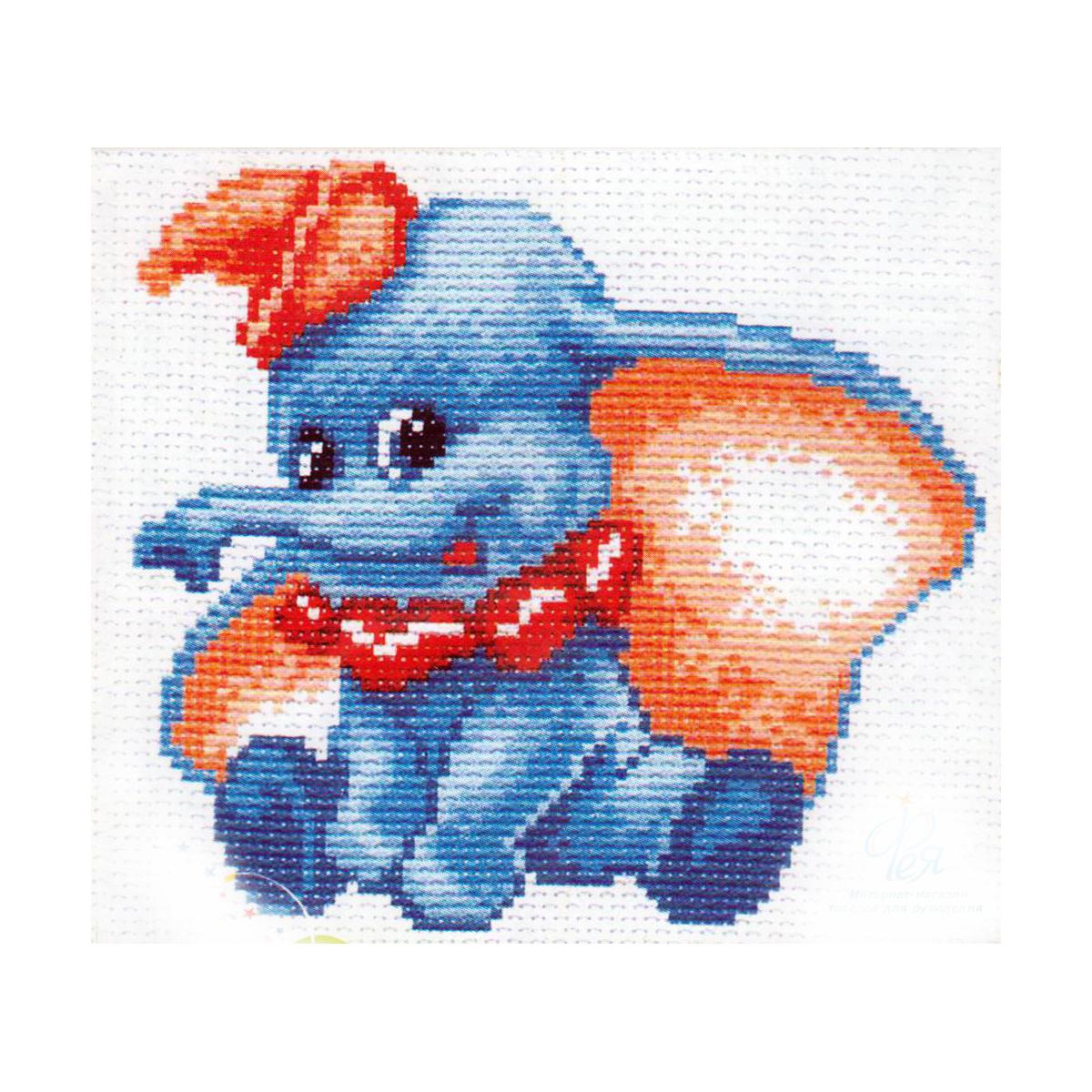 Набор для вышивания Матренин Посад Слоненок, 11 см х 14 см. 571176105