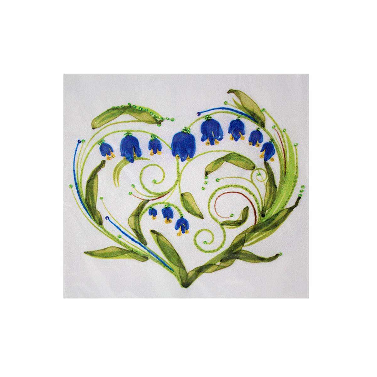 Набор для вышивания бисер, ленты Матренин Посад Колокольчики-сердце, 28 см х 34 см. 7027484079