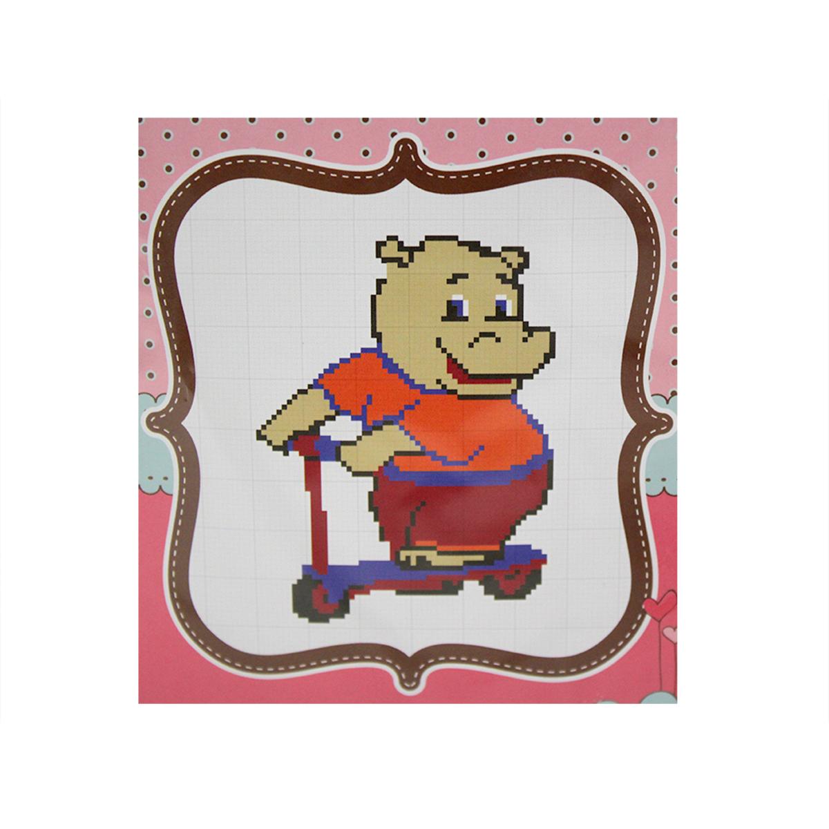 Набор для вышивания счетным крестом Матренин Посад Бегемот на самокате, 20 см х 22 см. 6095484094