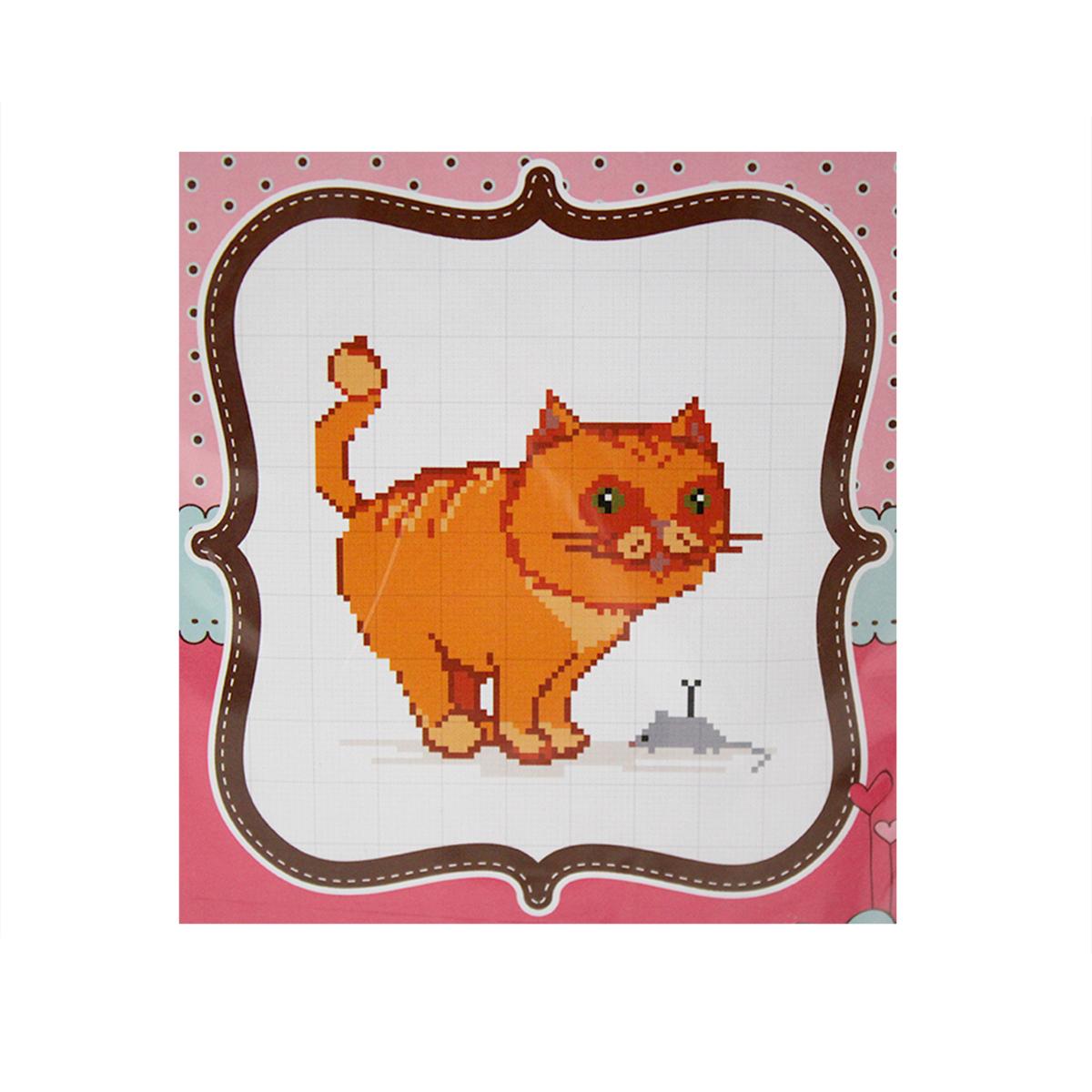 Набор для вышивания счетным крестом Матренин Посад Кошечка, 20 см х 22 см. 6088484096