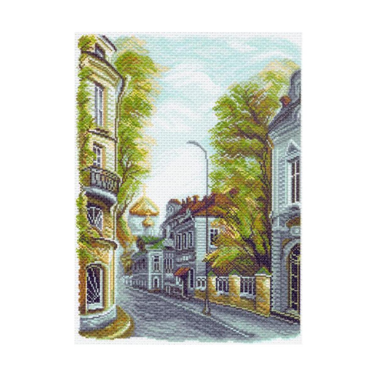 Канва с рисунком Матренин Посад Гагаринский переулок, 33 см х 45 см. 1509488655Размер: 33x45 см Рисунок полностью напечатан на канве. Указана цветовая карта ниток. Вышивать рекомендуется мулине в 3 сложения.