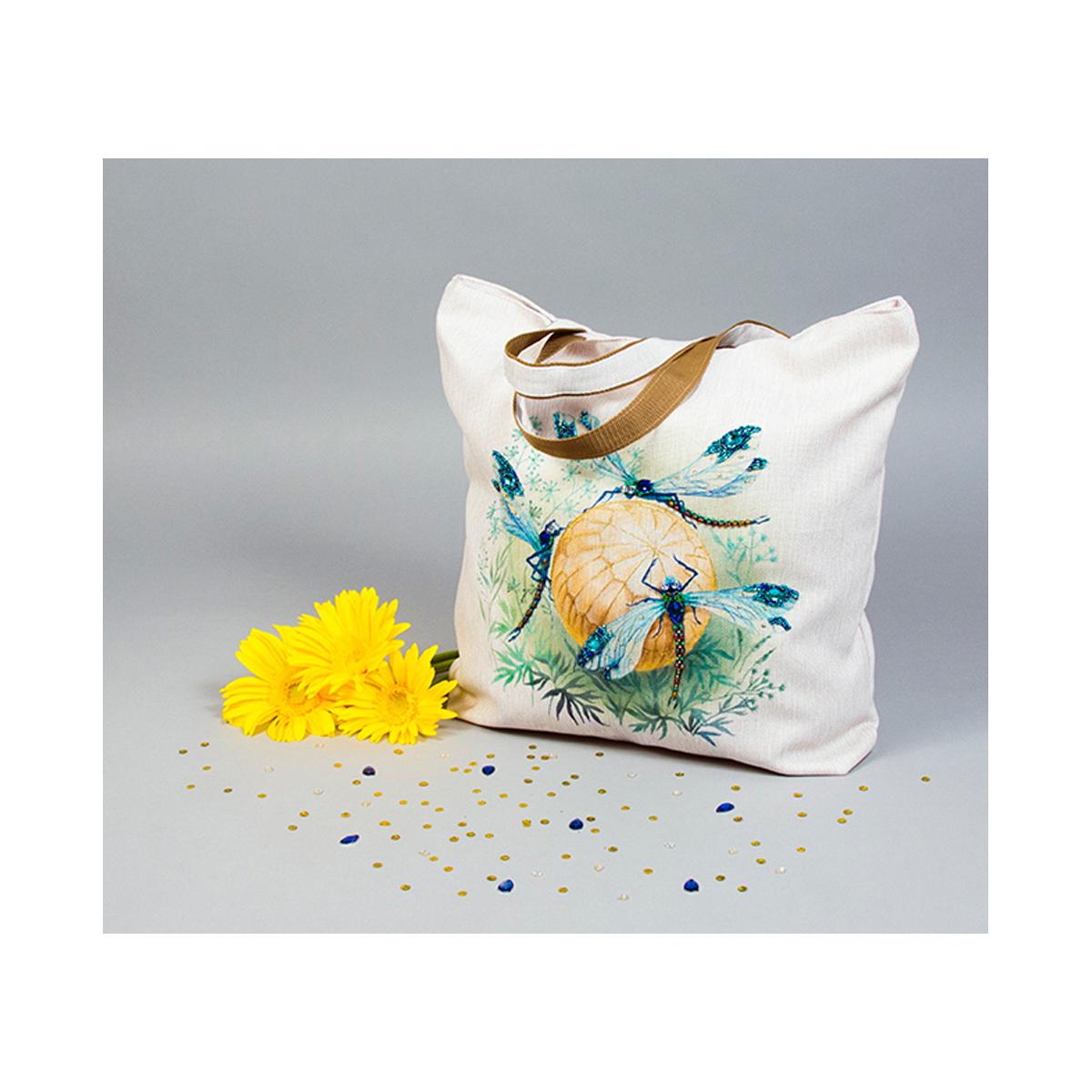 Набор для вышивки и частичного шитья Матренин Посад Танец стрекоз, 41 см х 43 см. 8519494826