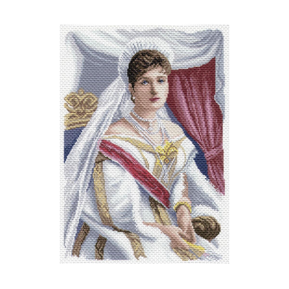 Канва с рисунком Матренин Посад Императрица Александра Федоровна, 33 см х 45 см. 1682549740Размер: 33x45 см Рисунок полностью напечатан на канве. Указана цветовая карта ниток. Вышивать рекомендуется мулине в 3 сложения.