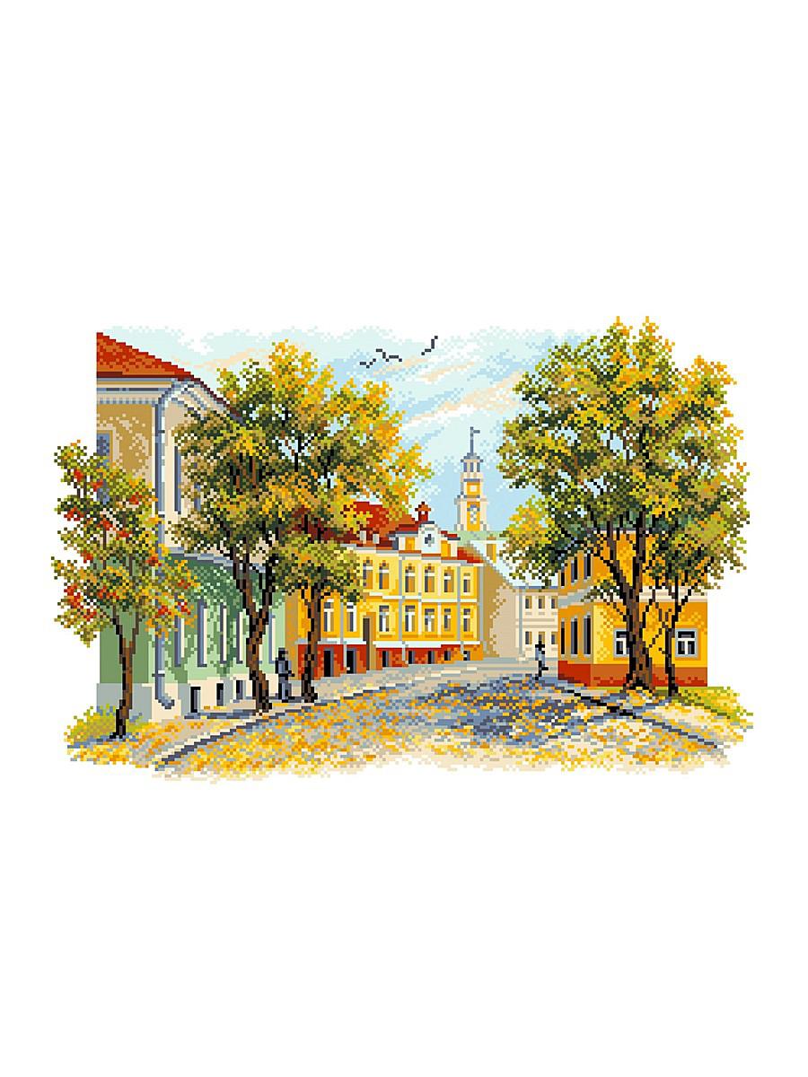 Канва с рисунком Матренин Посад Уездный город, 33 см х 45 см. 1674549752Размер: 33x45 см Рисунок полностью напечатан на канве. Указана цветовая карта ниток. Вышивать рекомендуется мулине в 3 сложения.