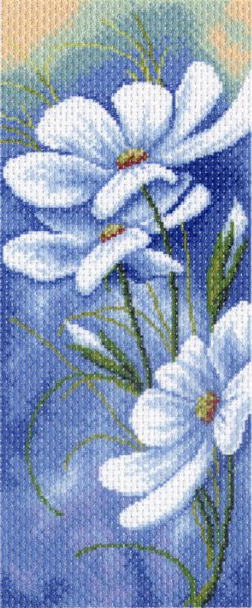 Канва с рисунком Матренин Посад Вечерний блюз, 24 х 47 см. 1333549813Рисунок полностью напечатан на канве. Указана цветовая карта ниток. Вышивать рекомендуется мулине в 3 сложения.