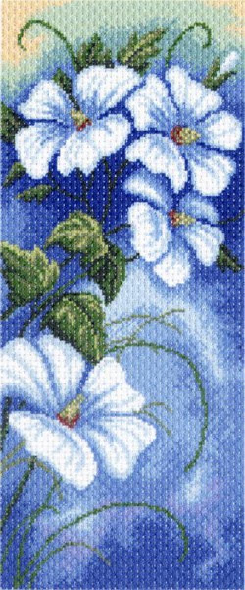 Канва с рисунком Матренин Посад Ночной блюз, 22 см х 45 см. 1334549814Размер: 22x45 см Рисунок полностью напечатан на канве. Указана цветовая карта ниток. Вышивать рекомендуется мулине в 3 сложения.