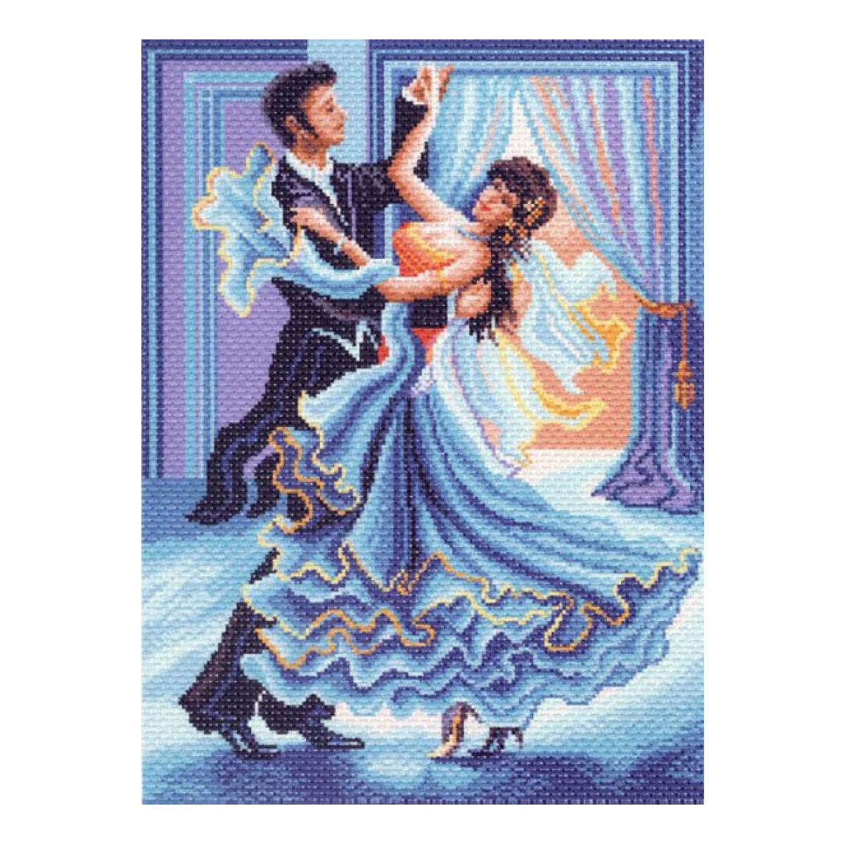 Канва с рисунком Матренин Посад Танец, 33 см х 45 см. 1343549916Размер: 33x45 см Рисунок полностью напечатан на канве. Указана цветовая карта ниток. Вышивать рекомендуется мулине в 3 сложения.