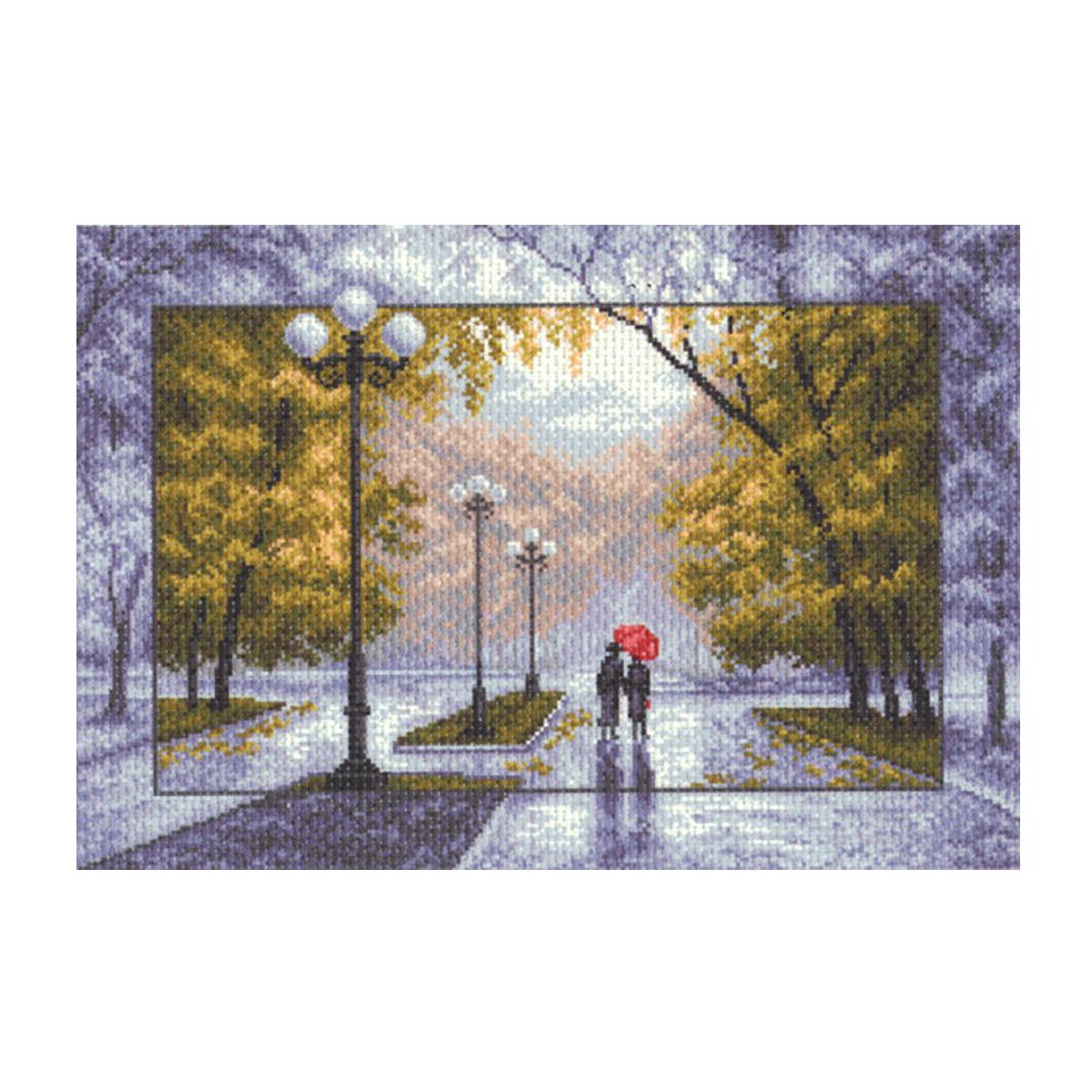 Канва с рисунком Матренин Посад Осень, 33 см х 45 см. 1412549931Размер: 33x45 см Рисунок полностью напечатан на канве. Указана цветовая карта ниток. Вышивать рекомендуется мулине в 3 сложения.