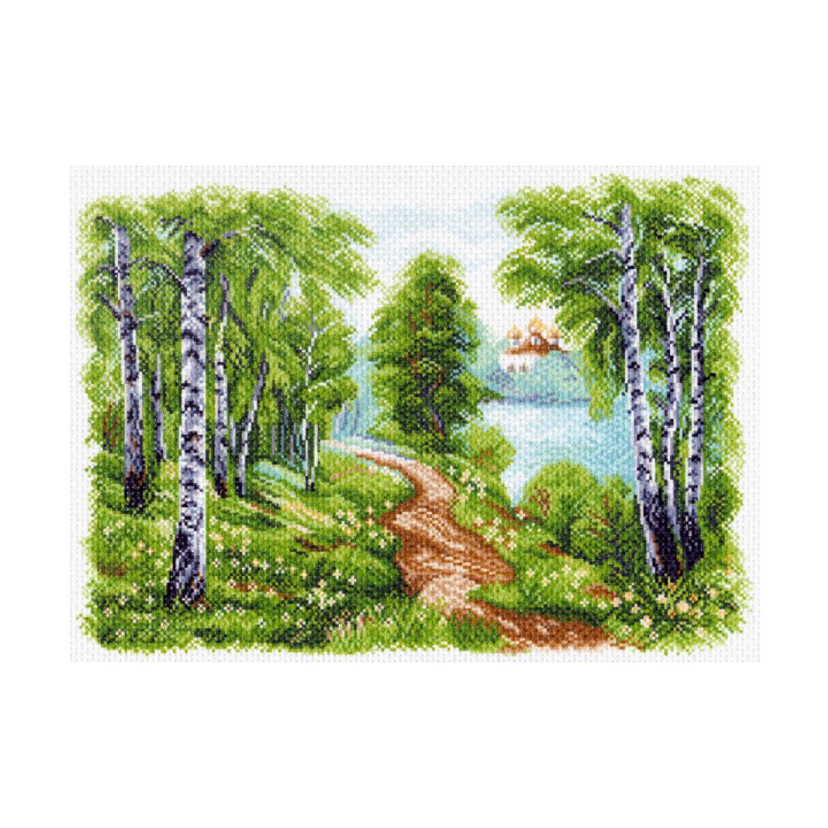 Канва с рисунком Матренин Посад Храм у озера, 33 см х 45 см. 1513549960Размер: 33x45 см Рисунок полностью напечатан на канве. Указана цветовая карта ниток. Вышивать рекомендуется мулине в 3 сложения.