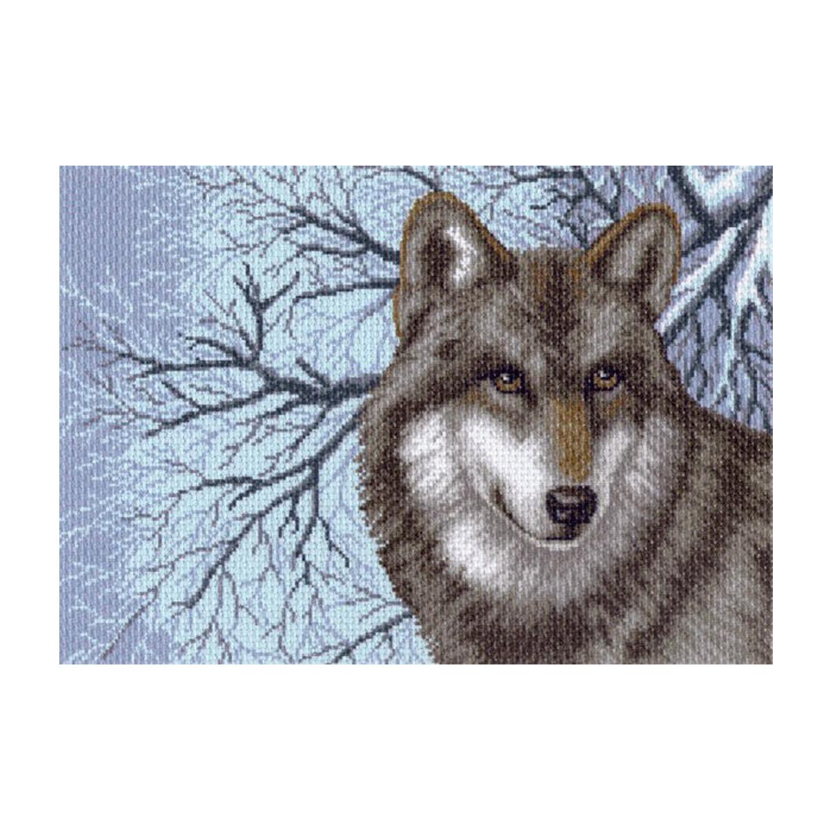 Канва с рисунком Матренин Посад Волк, 33 см х 45 см. 1538549969Размер: 33x45 см Рисунок полностью напечатан на канве. Указана цветовая карта ниток. Вышивать рекомендуется мулине в 3 сложения.