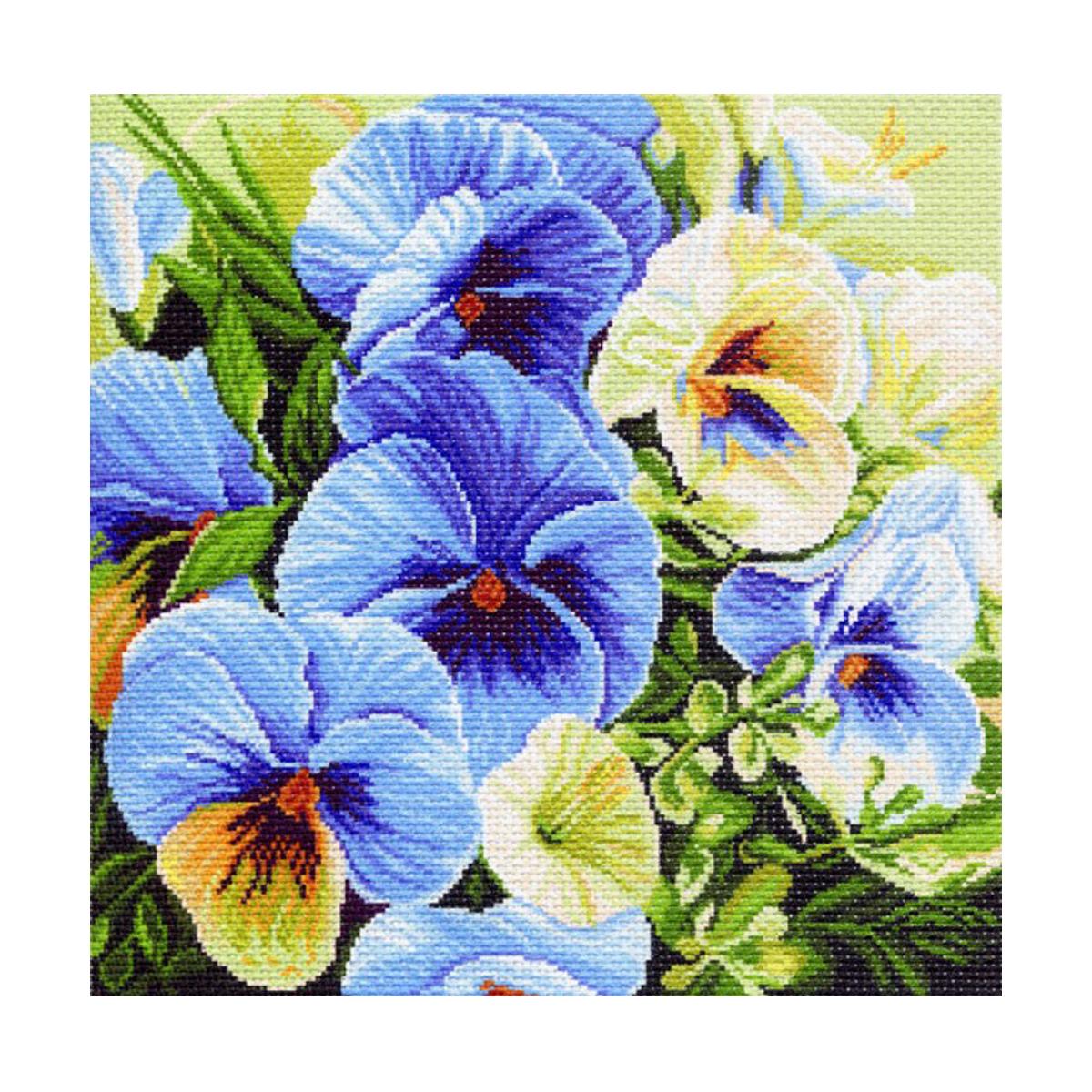 Канва с рисунком Матренин Посад Голубые россыпи, 41 см х 41 см. 1247551134Размер: 41x41 см Рисунок полностью напечатан на канве. Указана цветовая карта ниток. Вышивать рекомендуется мулине в 3 сложения.