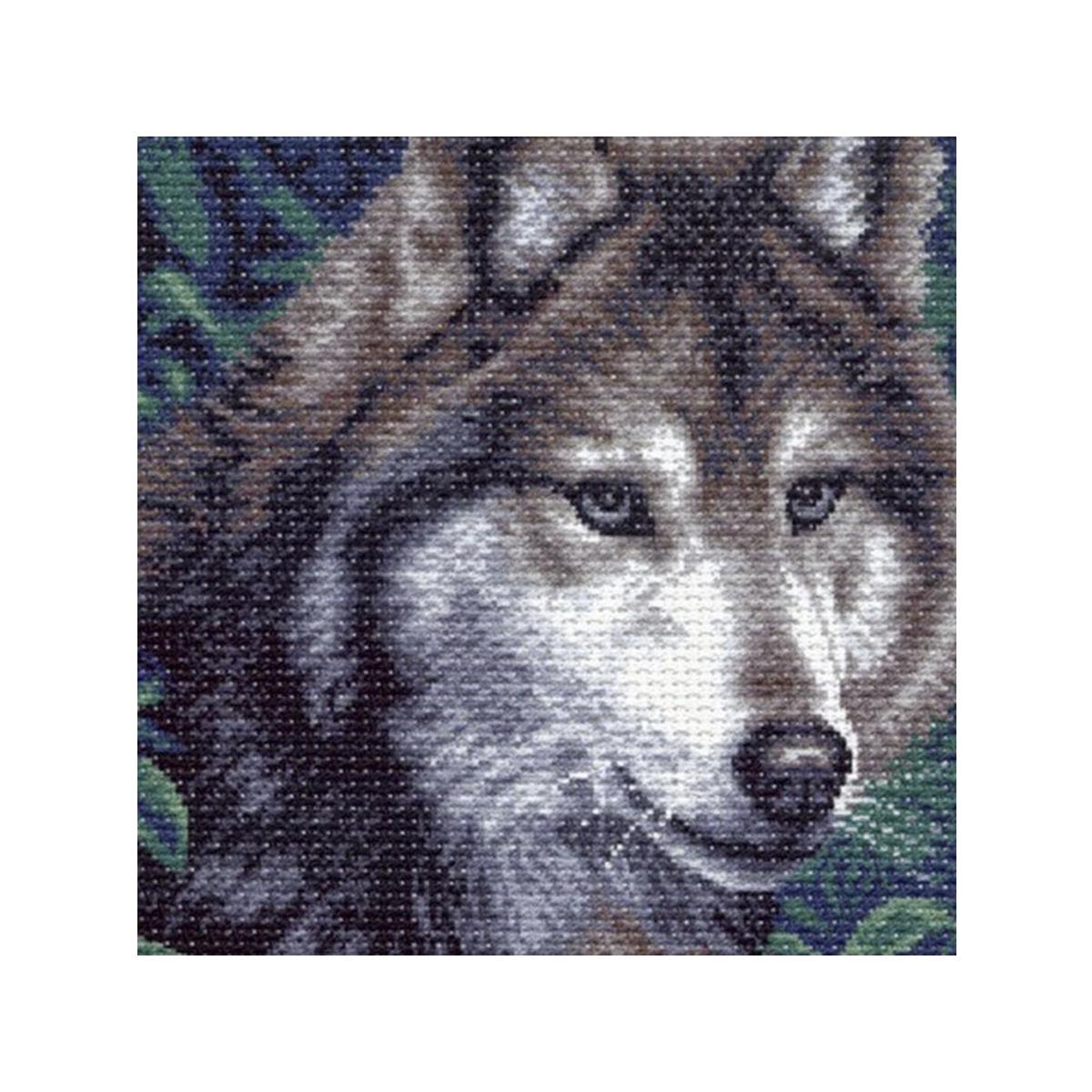 Канва с рисунком Матренин Посад Волк, 41 см х 41 см. 970551200Размер: 41x41 см Рисунок полностью напечатан на канве. Указана цветовая карта ниток. Вышивать рекомендуется мулине в 3 сложения.