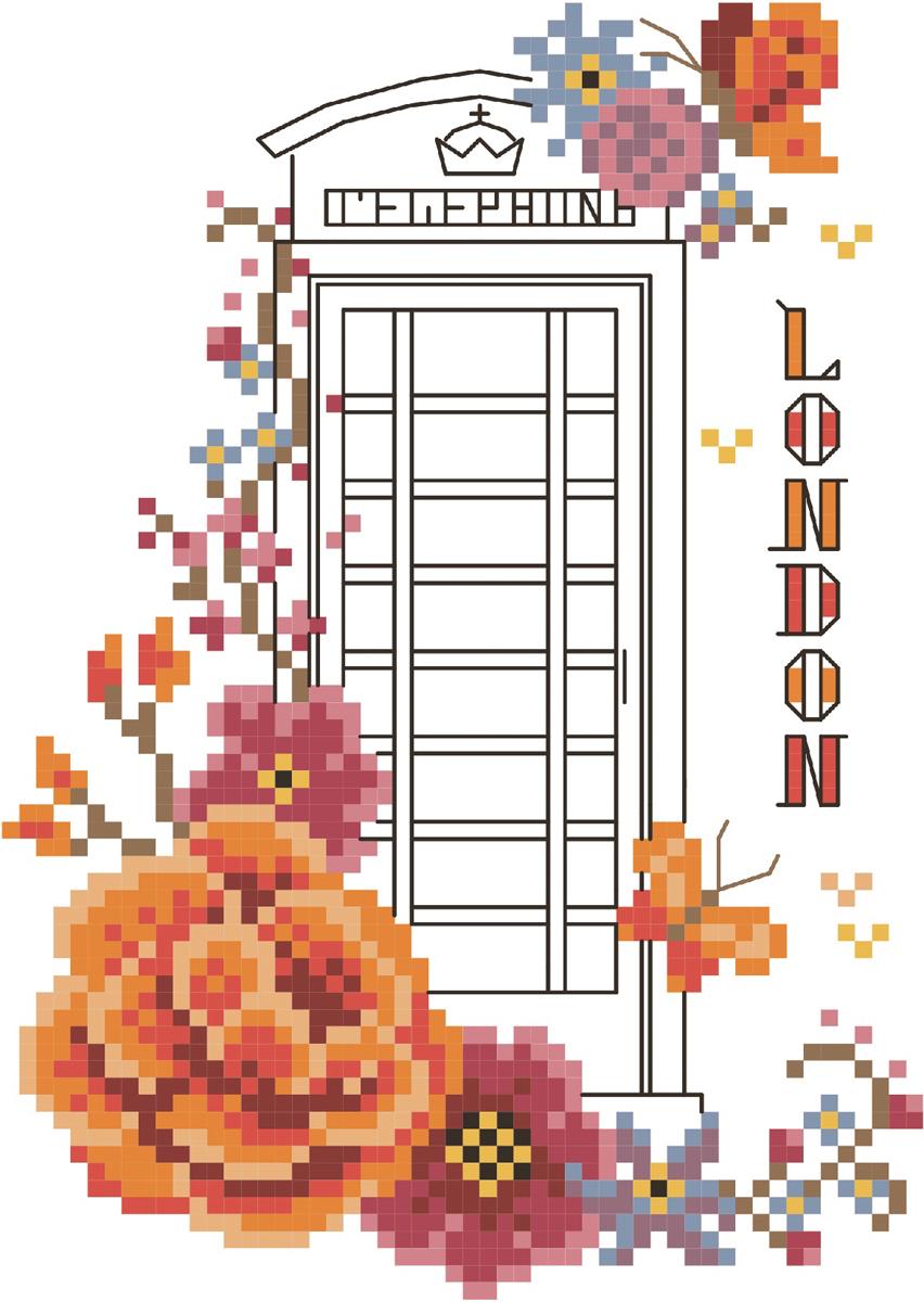 Набор для вышивания счетным крестом Матренин Посад Лондон, 10 см х 14 см. 6062581877