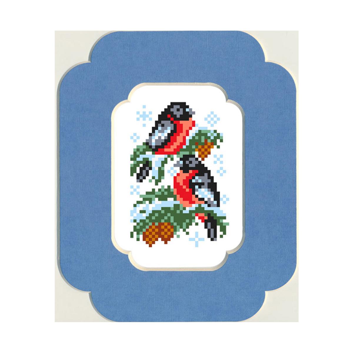 Набор для вышивания бисером и паспарту Матренин Посад Снегири, 13 см х 18 см. 52/БП693862Снегири Размер : 13 см х 18 см ткань с нанесенным рисунком, бисер, нить для пришива бисера, игла для бисера, инструкция, паспарту лицевая сторона с фигурным вырезом с внутренней и внешней стороны, паспарту заднее с внешним фигурным срезом, под