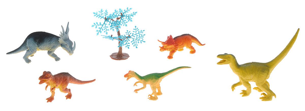 Megasaurs Набор фигурок Динозавры цвет оранжевый желтый серый 5 штSV10690_оранжевый,желтый,серыйВ набор Megasaurs Динозавры входят 5 различных фигурок, с которыми можно разыграть разнообразные интересные сюжеты, связанные с периодом динозавров. Фигурки динозавров являются копей доисторических ящеров, которые непременно впечатлят вашего ребенка своим правдоподобным видом. Фигурки динозавров и дерево изготовлены из высококачественных нетоксичных материалов, абсолютно безопасных для вашего малыша. Тема эпохи динозавров никогда не останется в прошлом! Каждый ребенок, так или иначе, интересовался этим доисторическим миром и мечтал о своем собственном динозавре. Удивительные фигурки динозавров Megasaurs с высокой детализацией и тщательной проработкой элементов не оставят равнодушным ни одного ребенка. Краска, которая нанесена на фигурку, абсолютно безопасна. Они не боятся влаги, поэтому станут прекрасным вариантом для игры в воде! Ваш ребенок часами будет играть с такими игрушками, придумывая различные истории.
